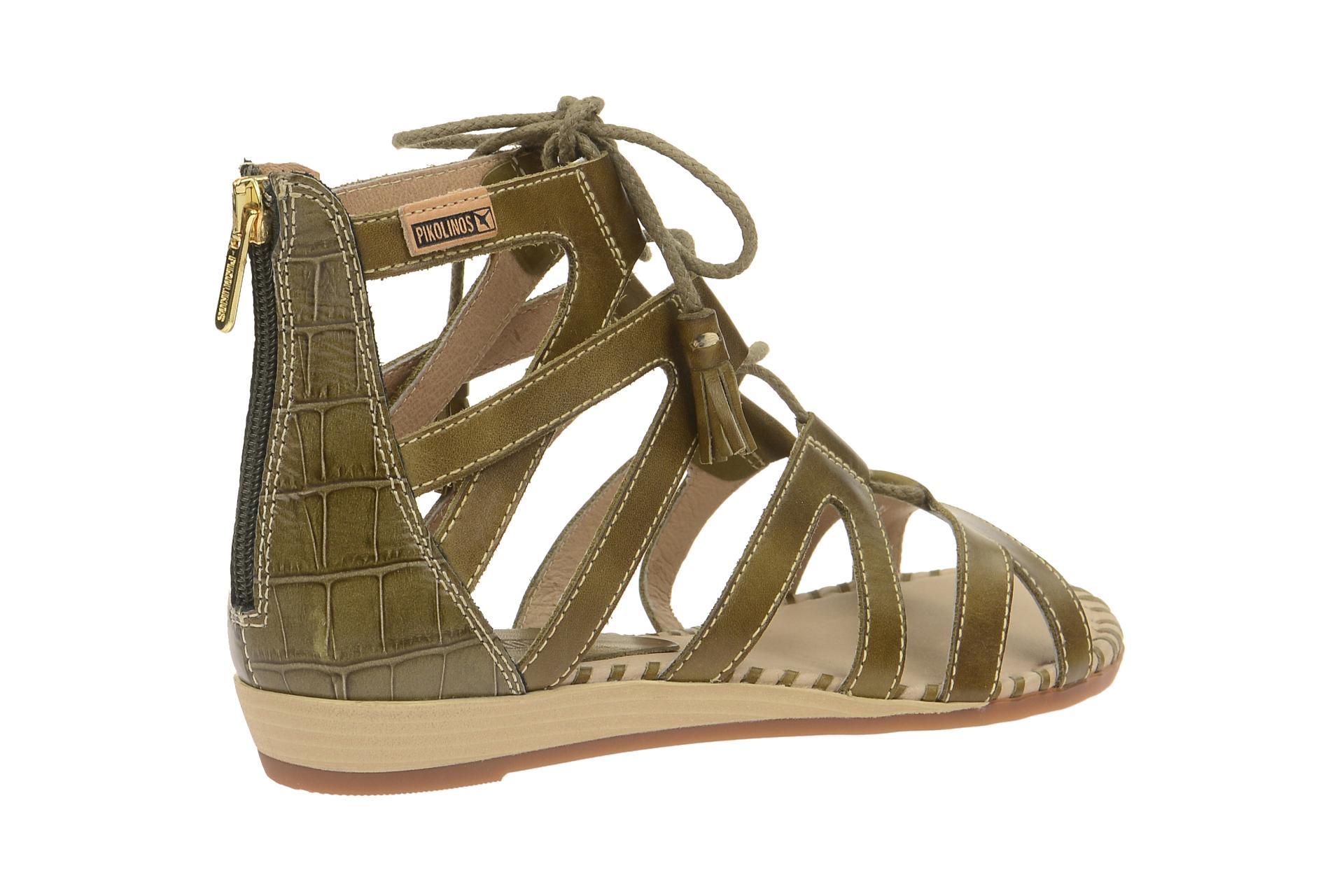 pikolinos schuhe alcudia gr n damen sandalette riemchen sandalen 816 7585 olive ebay. Black Bedroom Furniture Sets. Home Design Ideas