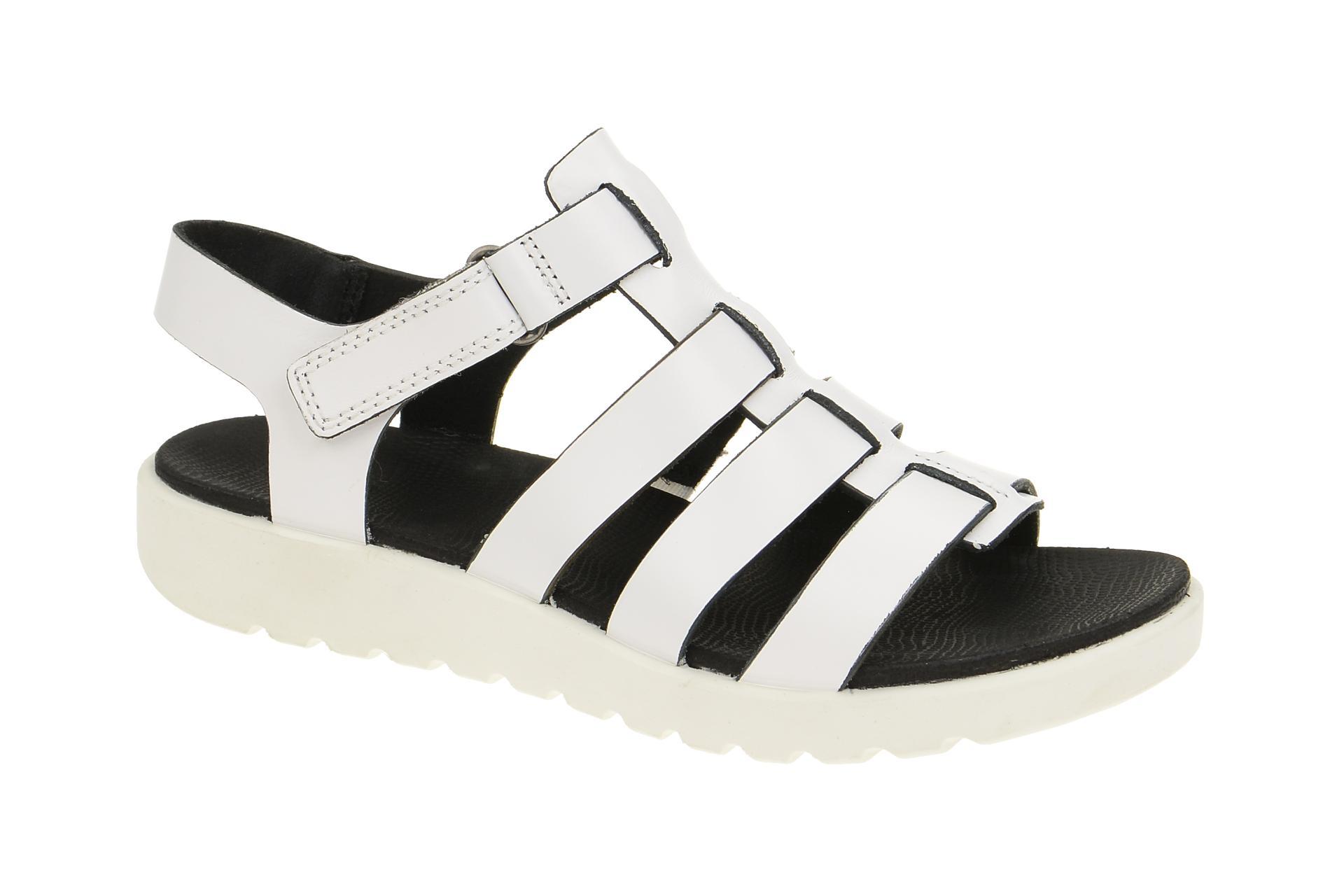 ecco damen sandalette riemchen sandalen freja wei white. Black Bedroom Furniture Sets. Home Design Ideas