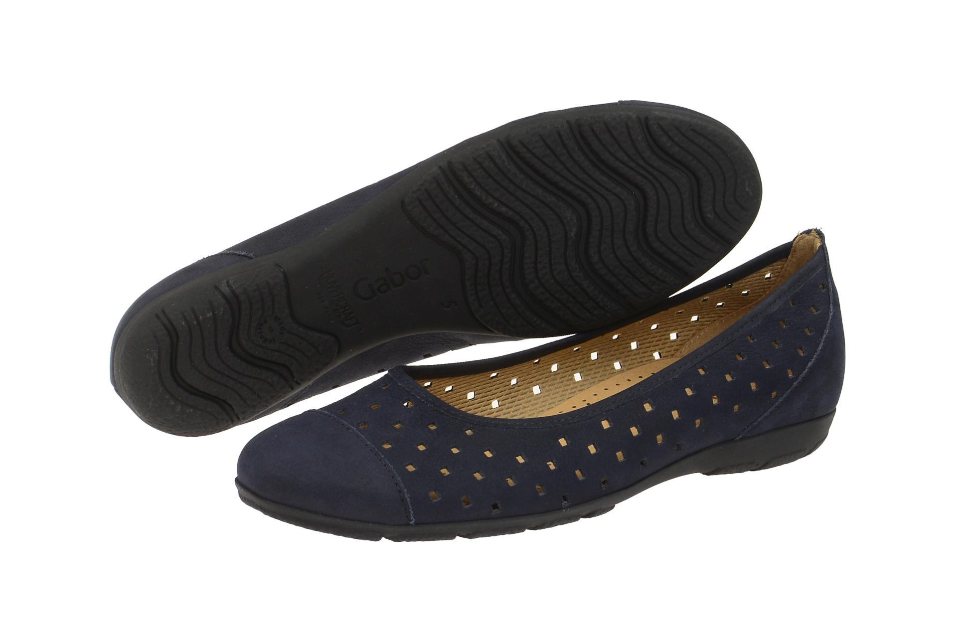 gabor slipper ballerina blau schuhhaus strauch shop. Black Bedroom Furniture Sets. Home Design Ideas