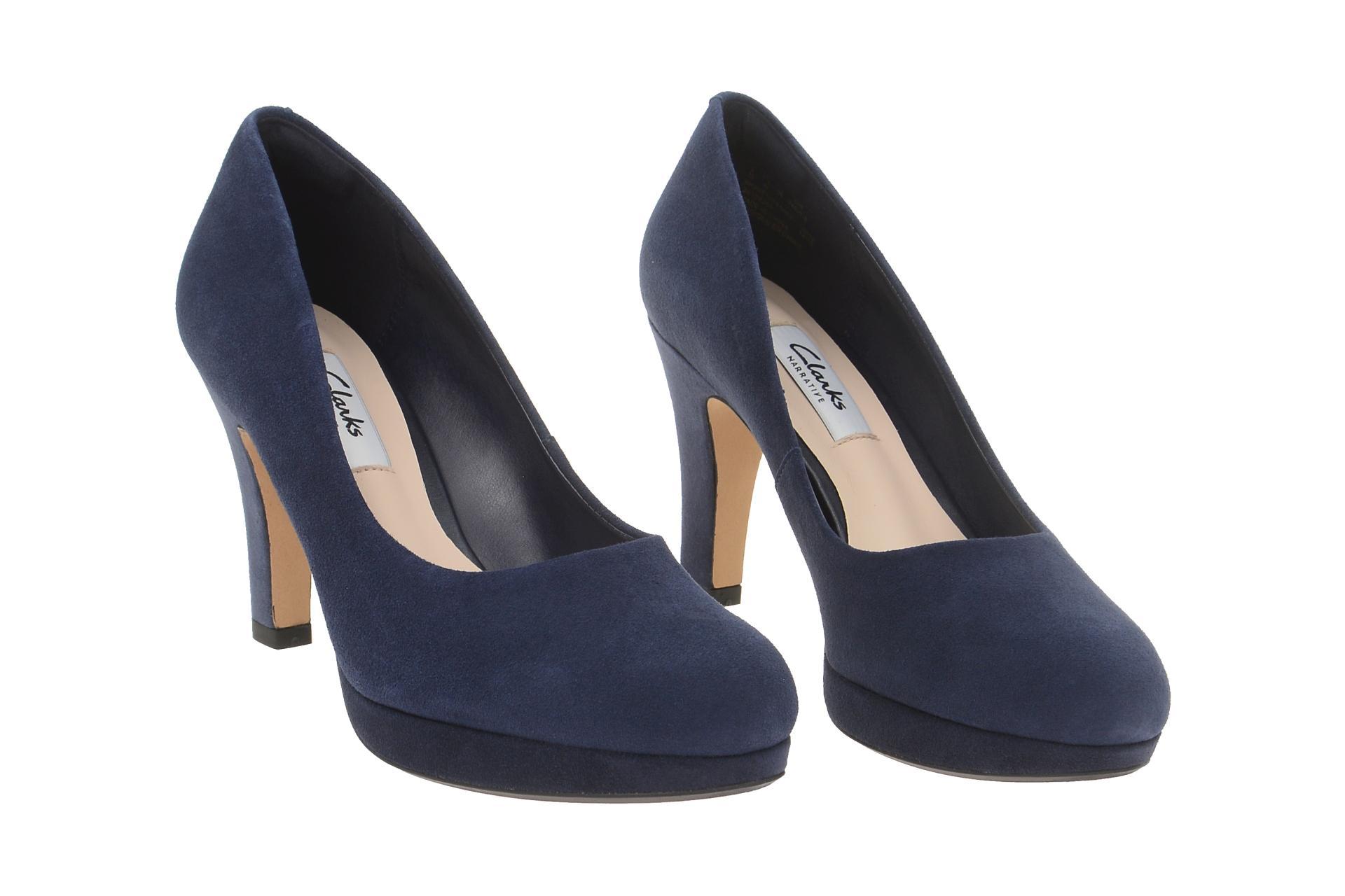 clarks crisp kendra pumps blau high heels schuhhaus strauch shop. Black Bedroom Furniture Sets. Home Design Ideas