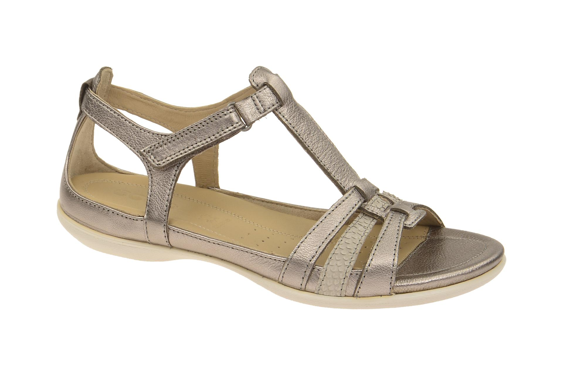 Ecco Flash Damen Sandale grau metallic - Schuhhaus Strauch Shop 1c46cd72ef