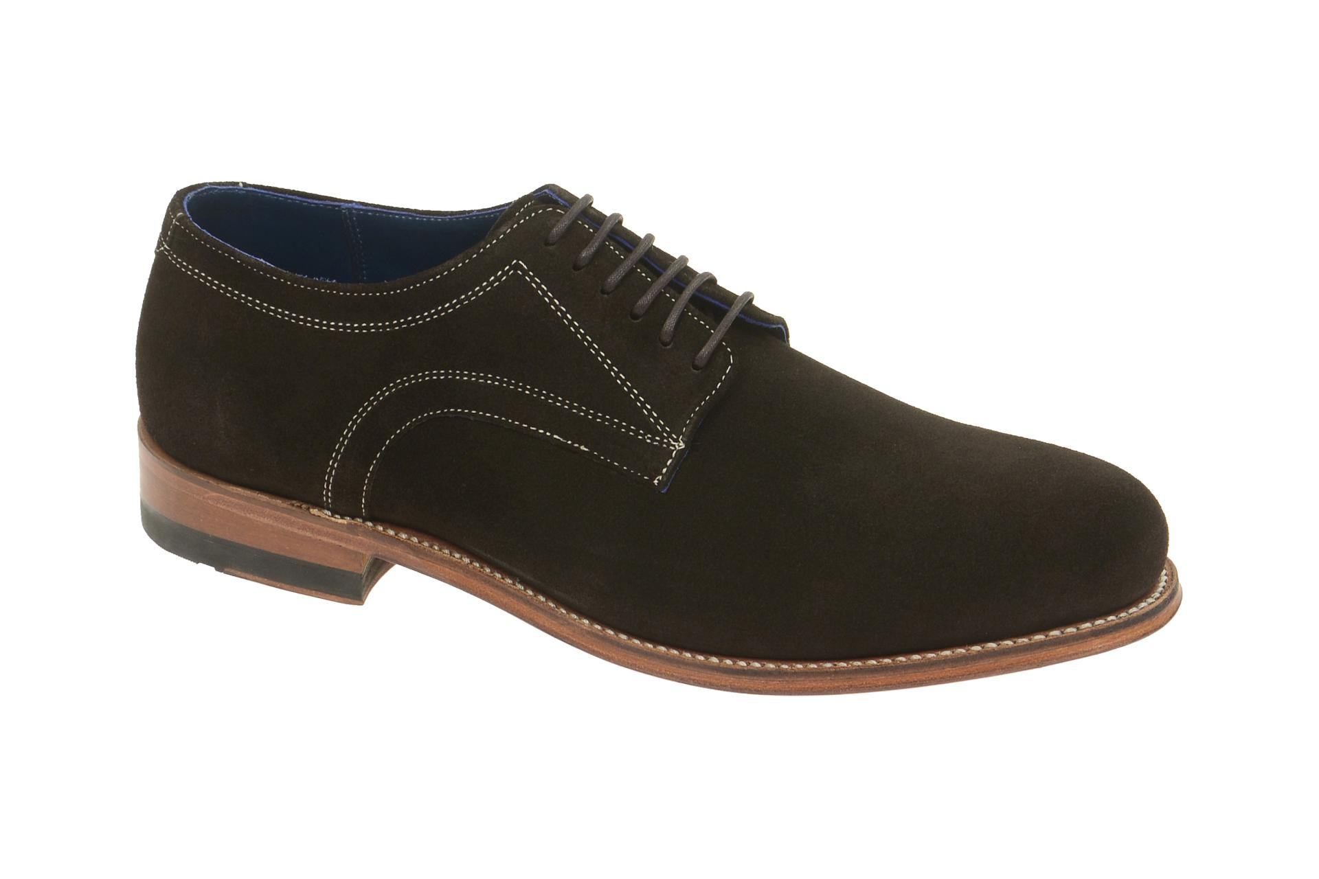 Gordon & Bros. Schuhe Levet braun Velour rahmengenäht 2320 :: Braun - 41 - Männlich - Erwachsene