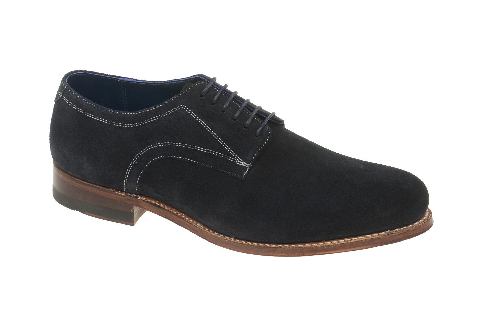 Gordon & Bros. Schuhe Levet blau Velour rahmengenäht 2320 :: Blau - 41 - Männlich - Erwachsene