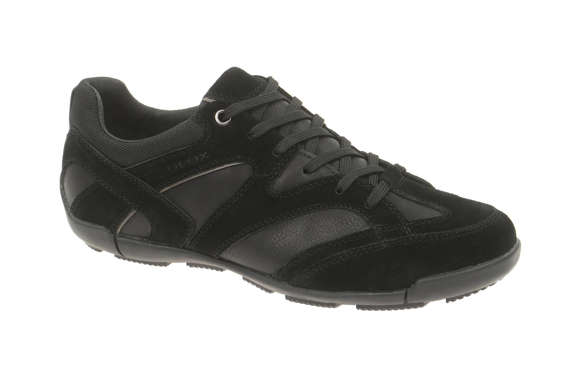 newest c4cce a71b9 Details zu Geox Schuhe CART schwarz Herrenschuhe sportliche Halbschuhe  U34S4T 0ME22 C9999