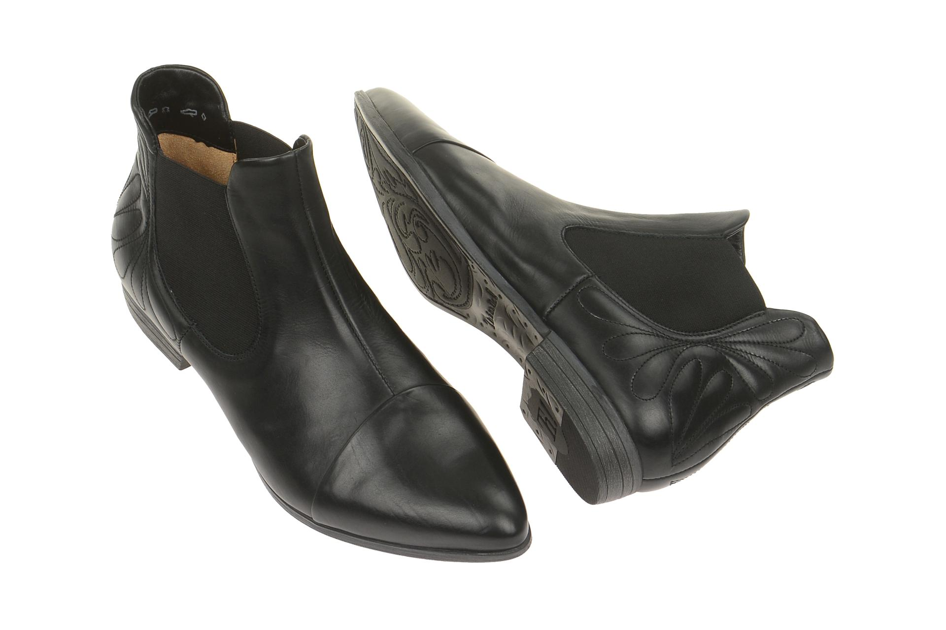 think bussi stiefelette schwarz chelsea boots schuhhaus. Black Bedroom Furniture Sets. Home Design Ideas