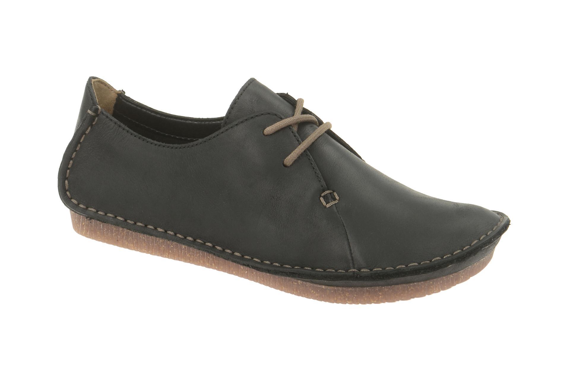 Clarks JANEY MAE Damen zapatos  - bequeme Schnür-  Halb zapatos  Schnür- schwarz NEU e9fe00