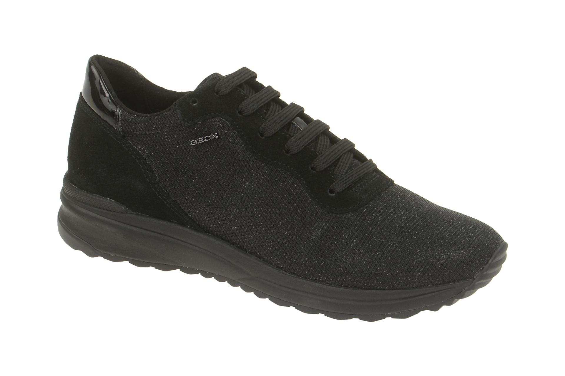 more photos 7c975 5f332 Geox Airell Sneaker Schuhe schwarz glitter