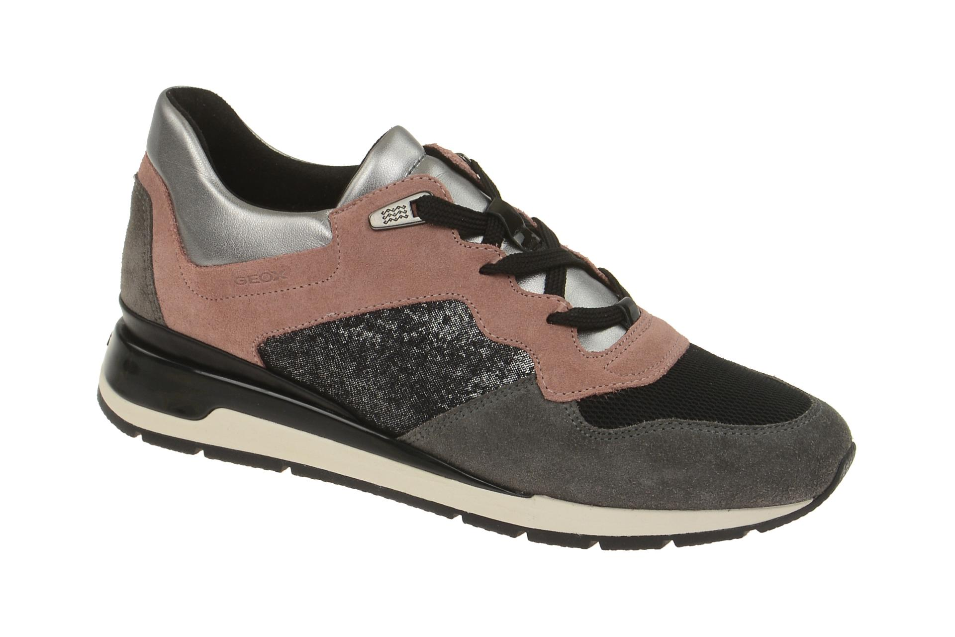 Geox Schuhe Shahira grau schwarz D44N1A t1kKs