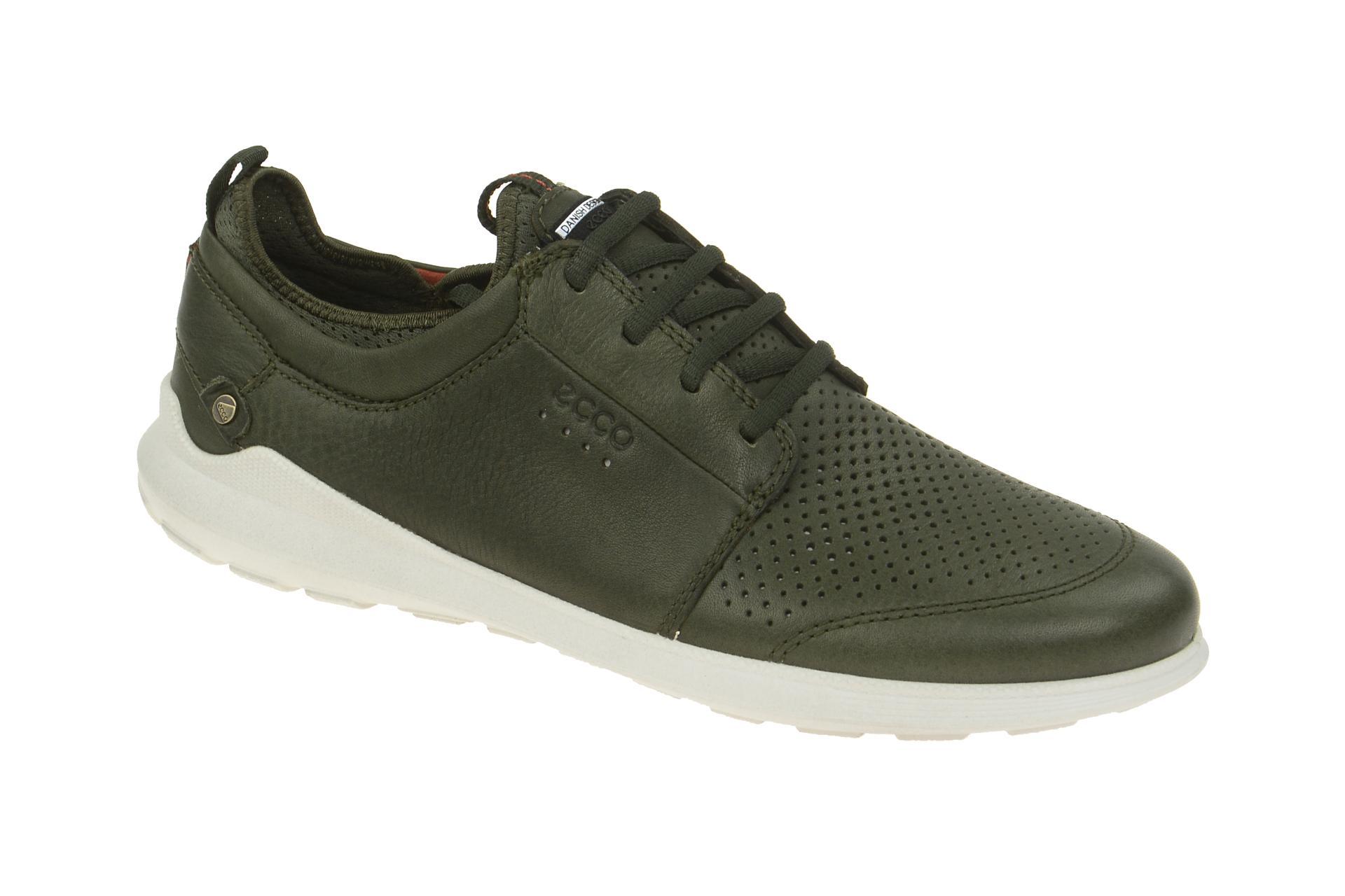 7957d1acdcbf99 Ecco Transit Schuhe grün Herren Sneaker - Schuhhaus Strauch Shop