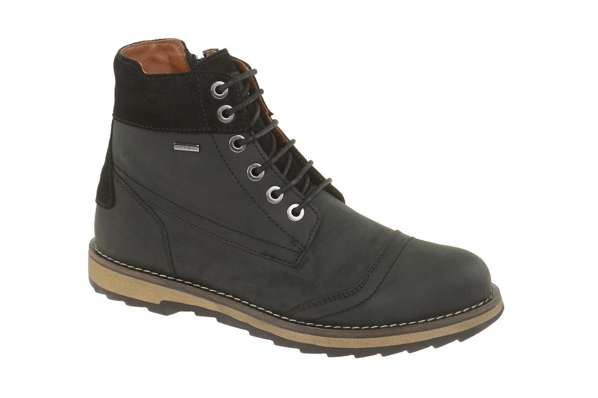 Geox Stiefel Damen Schwarz Stiefeletten aus Wildleder :