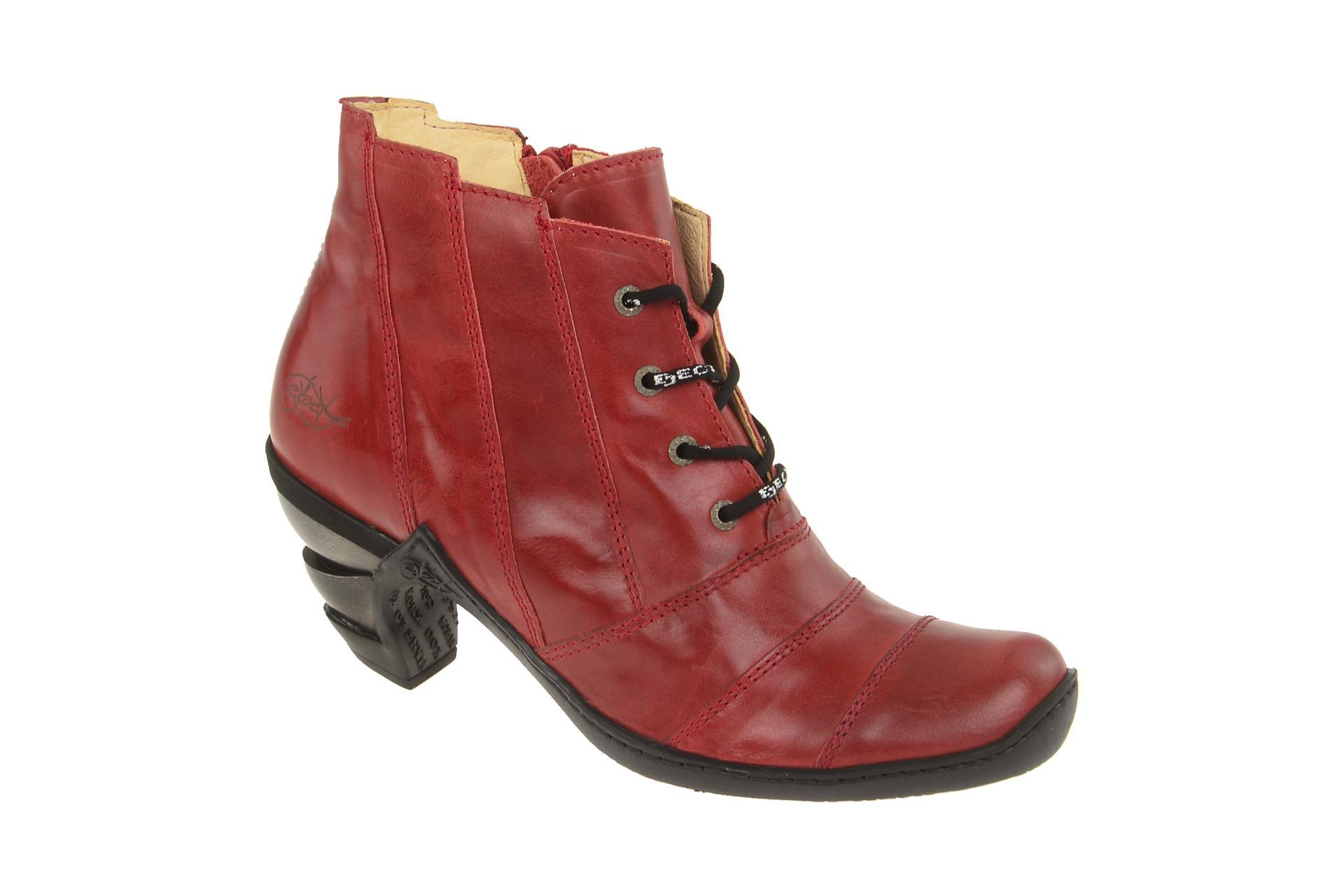 Damen Multy Eject Stiefeletten Elegante Rot Stiefelette Schuhe exrCoWdB