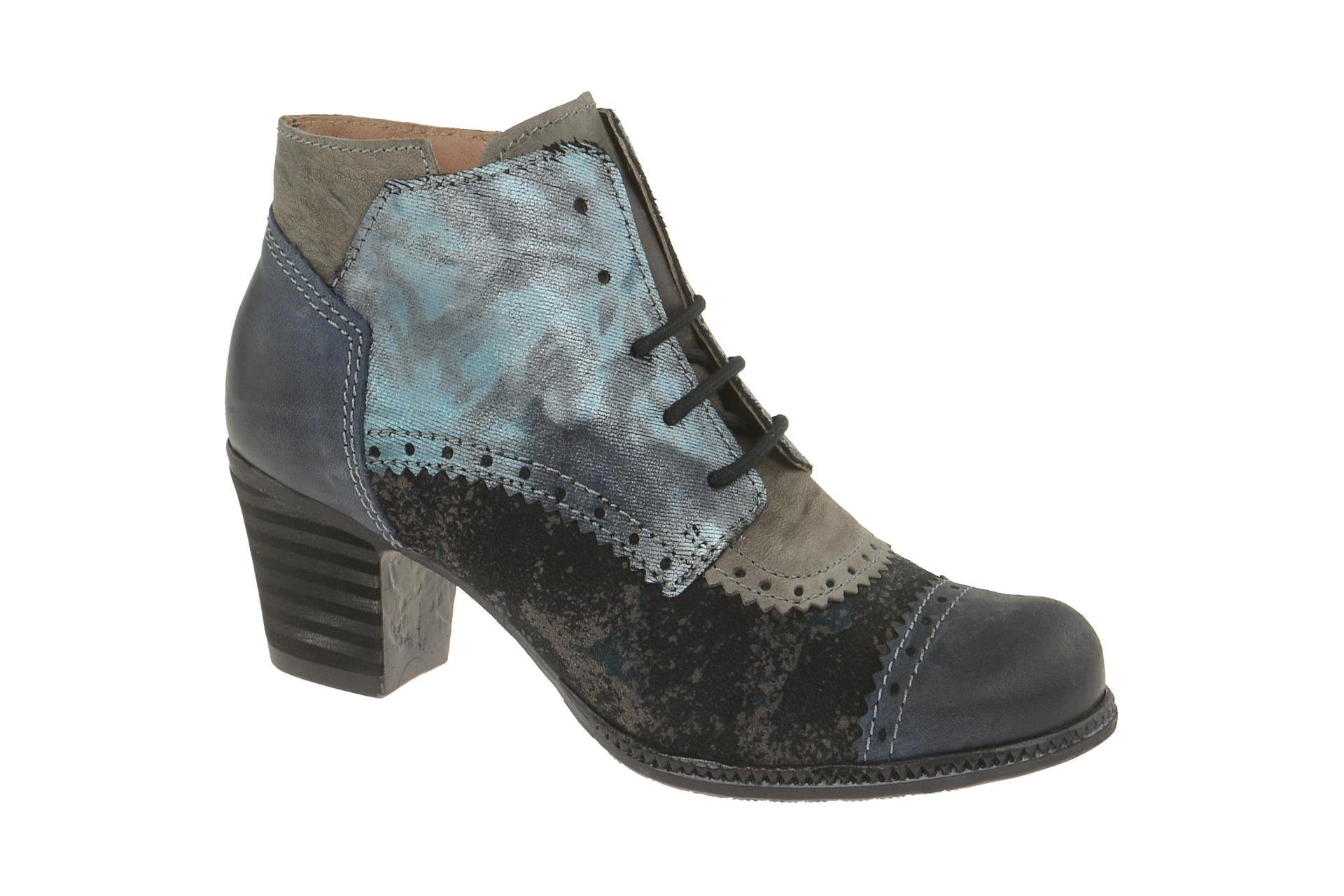 finest selection 6131b b88ee Charme Stiefelette blau grau kombi 5576