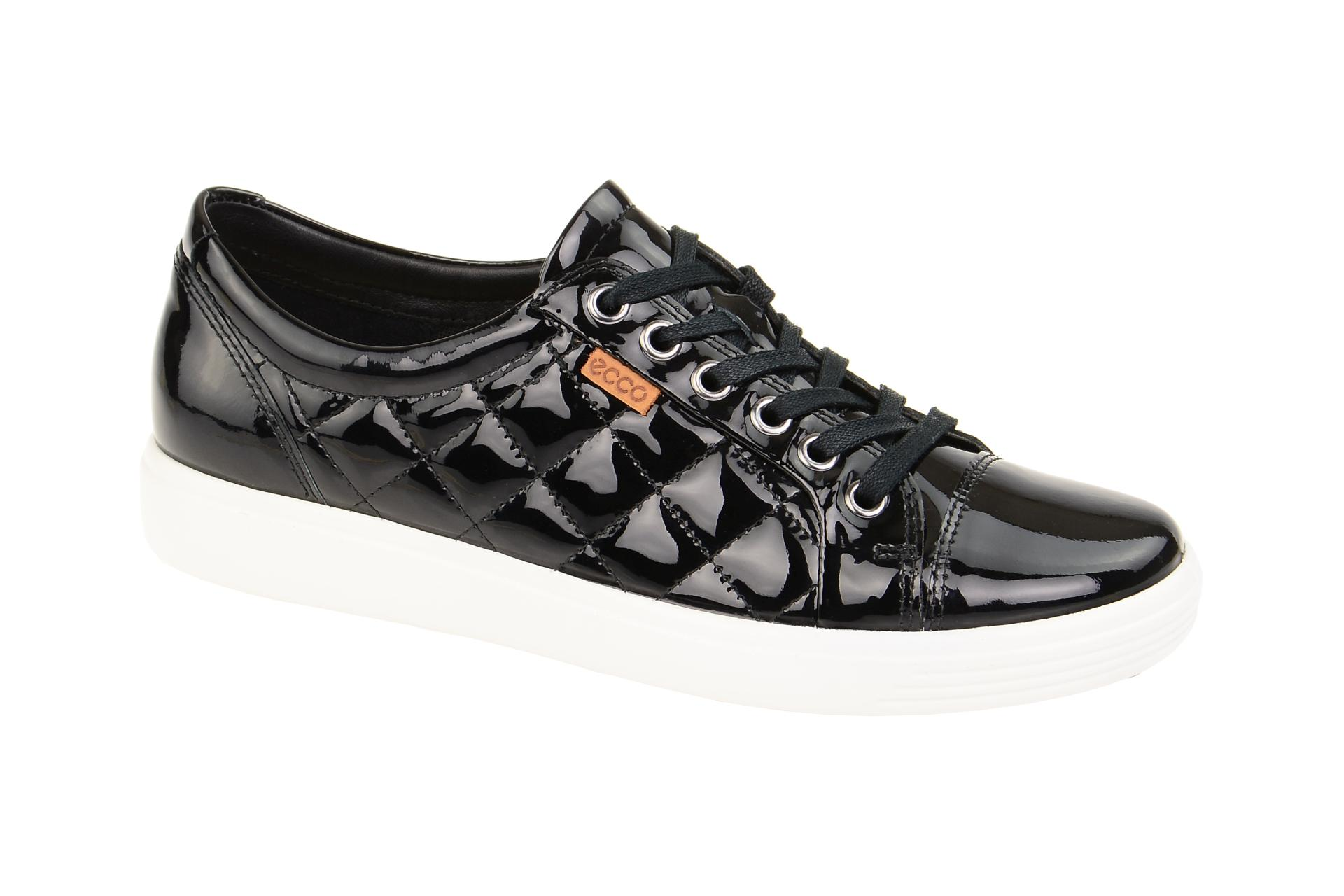 3afe014ecff0f5 Ecco Soft 7 Schuhe schwarz Lack Sneaker - Schuhhaus Strauch Shop