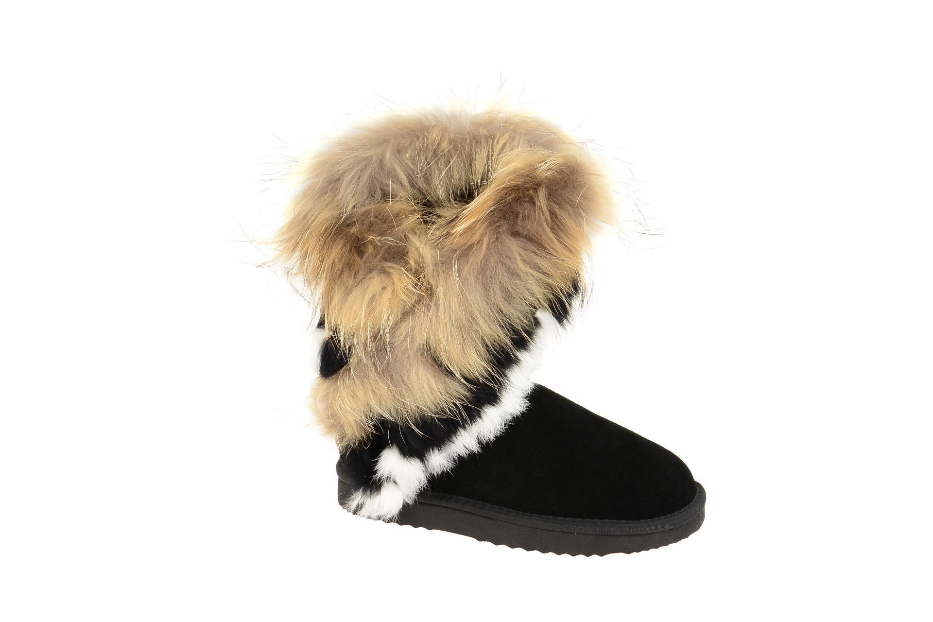 Oog Stiefel schwarz Fell Boots B8020 - Schuhhaus Strauch Shop 9eff6466fa