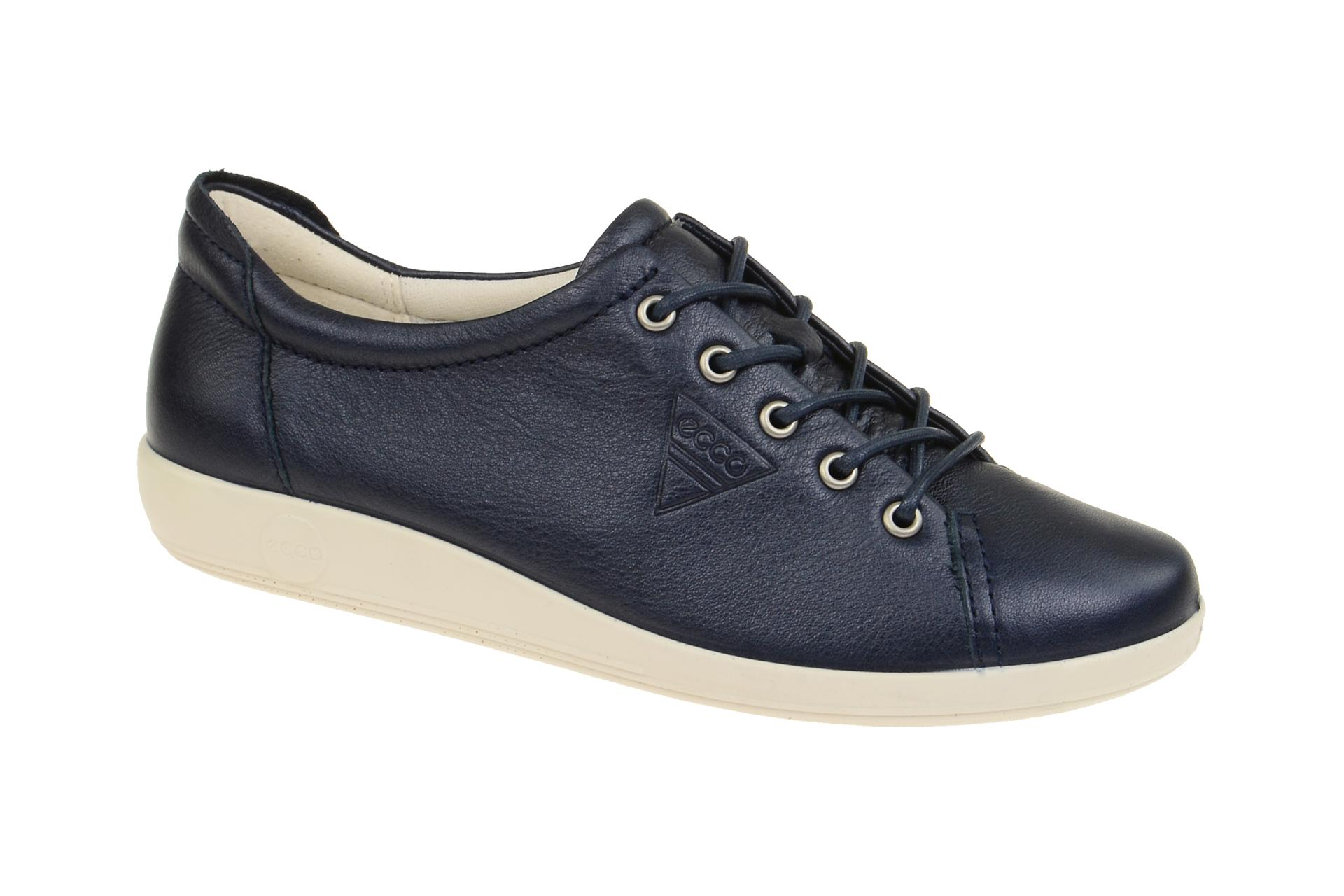eba125f05ca17a Ecco Soft 2 Damen Schuhe blau metallic - Schuhhaus Strauch Shop