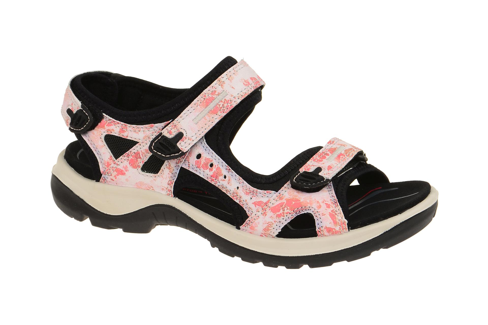 ecco damen sandale outdoor sandaletten offroad pink coral blush camo neu ebay. Black Bedroom Furniture Sets. Home Design Ideas