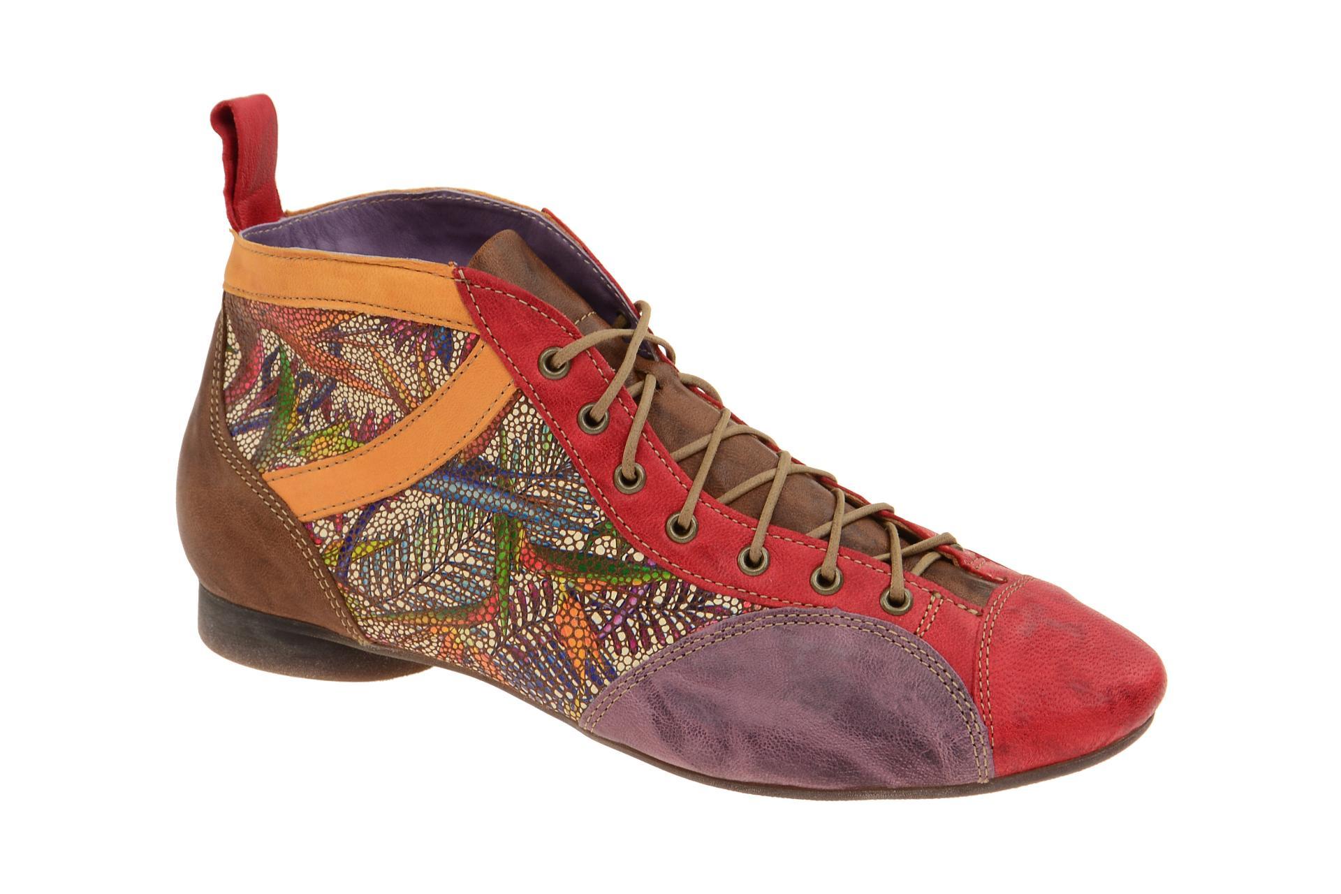 online store 197a2 acbec Details zu Think Schuhe GUAD rot Damen Stiefeletten bequeme Stiefelette  0-80288-76 NEU