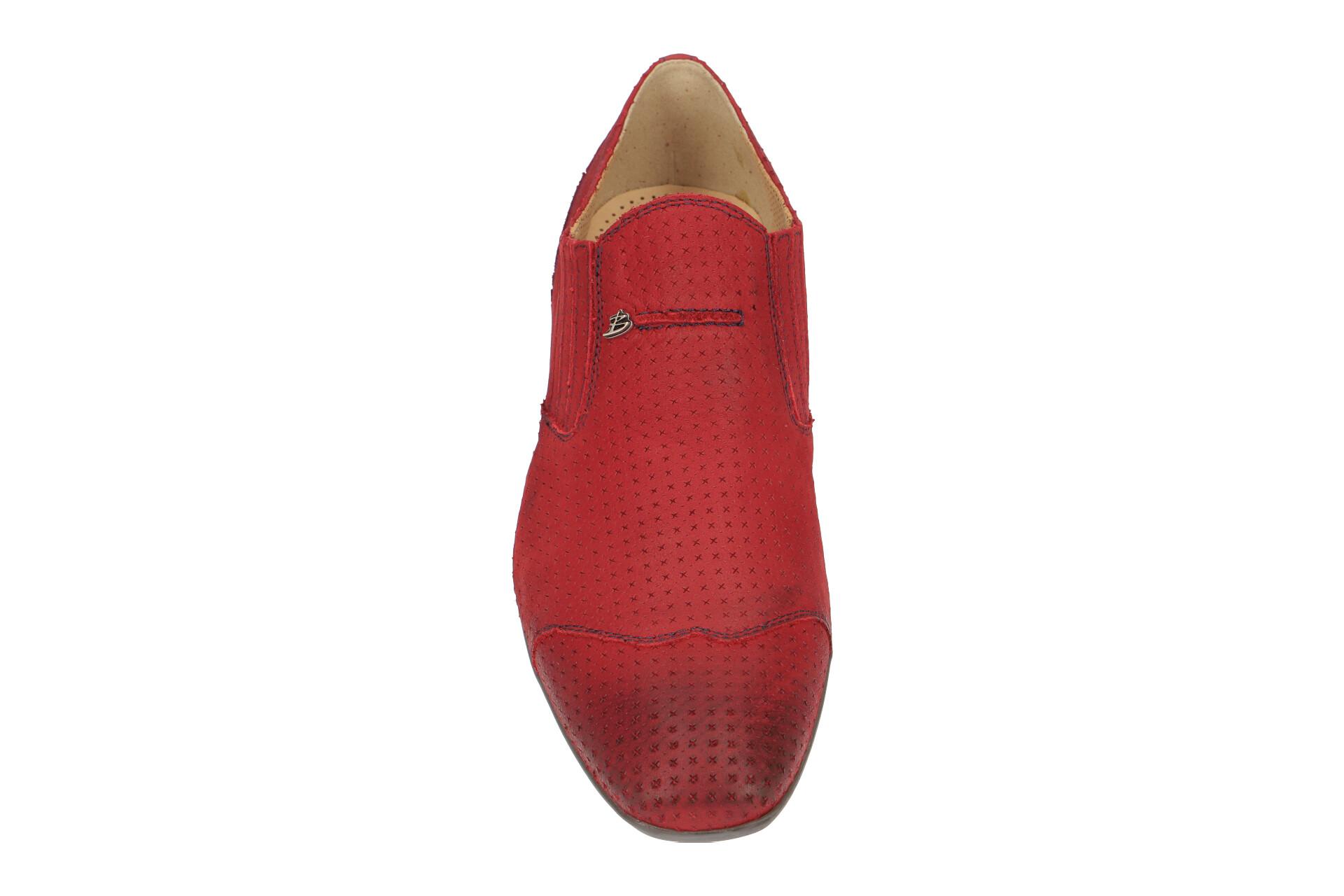 d2b9050ca991cb Bello Schuhe BL197 rot Herrenschuhe elegante Slipper BL197 rosso NEU ...
