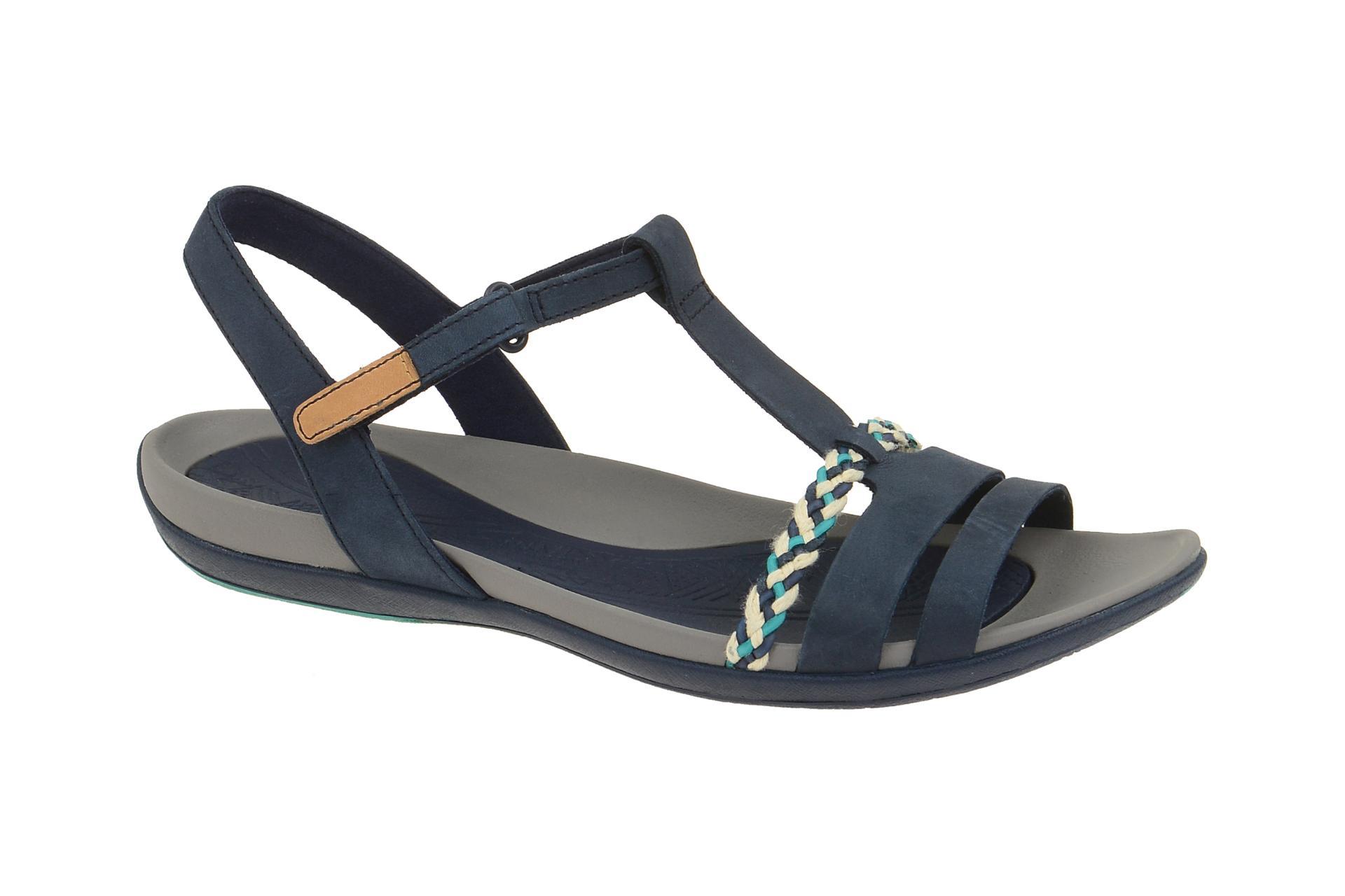 clarks tealite grace sandale blau - schuhhaus strauch shop
