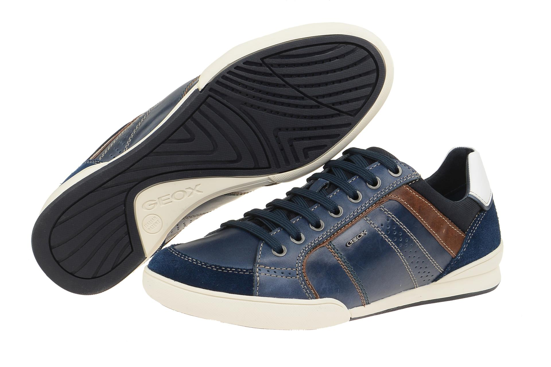 Geox Schuhe KRISTOF blau Herrenschuhe sportliche Halbschuhe U620EA 0FF22 C4072