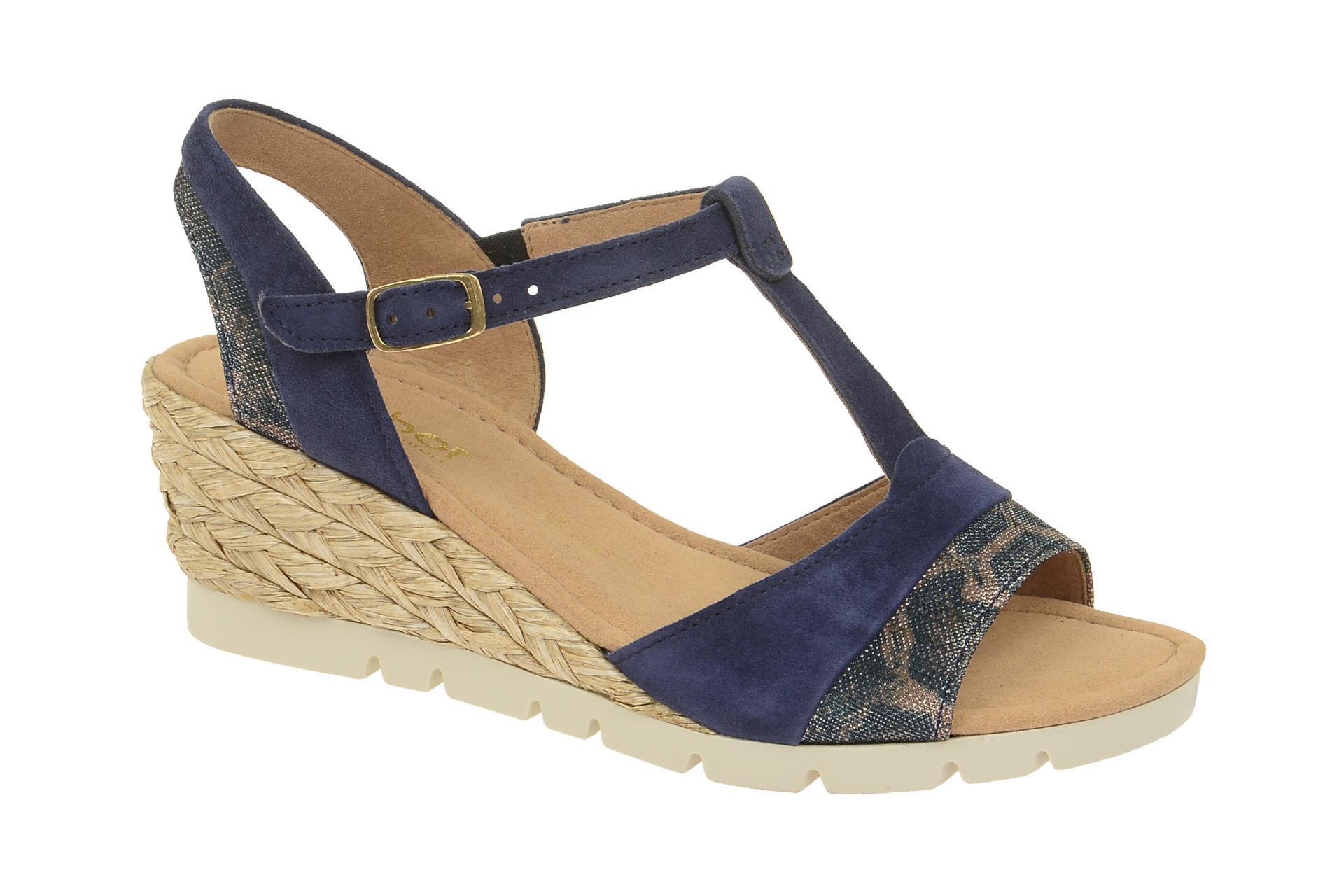 promo code afbfc f7fef Details zu Gabor Schuhe TUNIS blau Damen Sandale Sandaletten 62.841.36 NEU