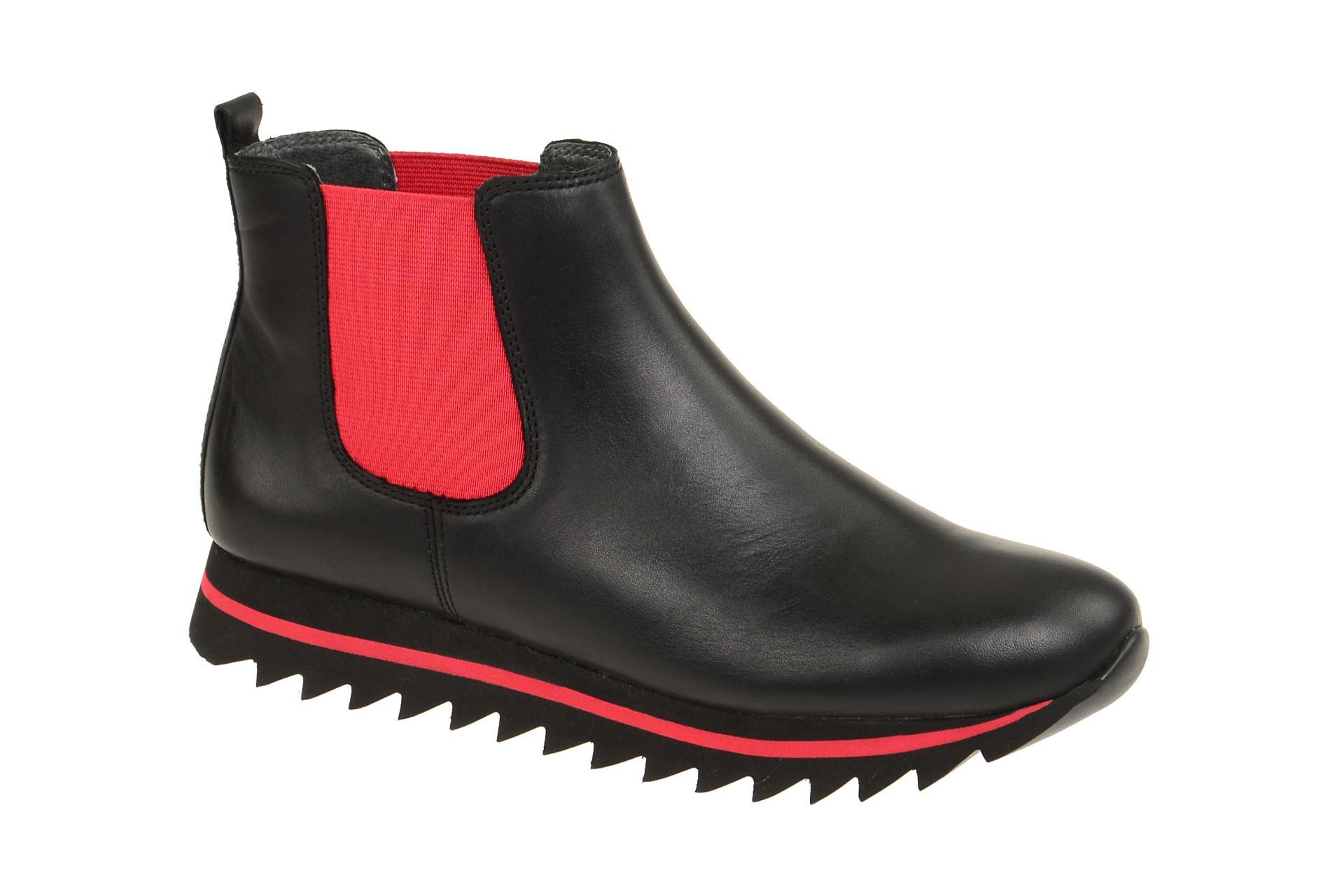 a6ed7c8eefcf19 Gabor Stiefelette schwarz rot 53.501.25 - Schuhhaus Strauch Shop