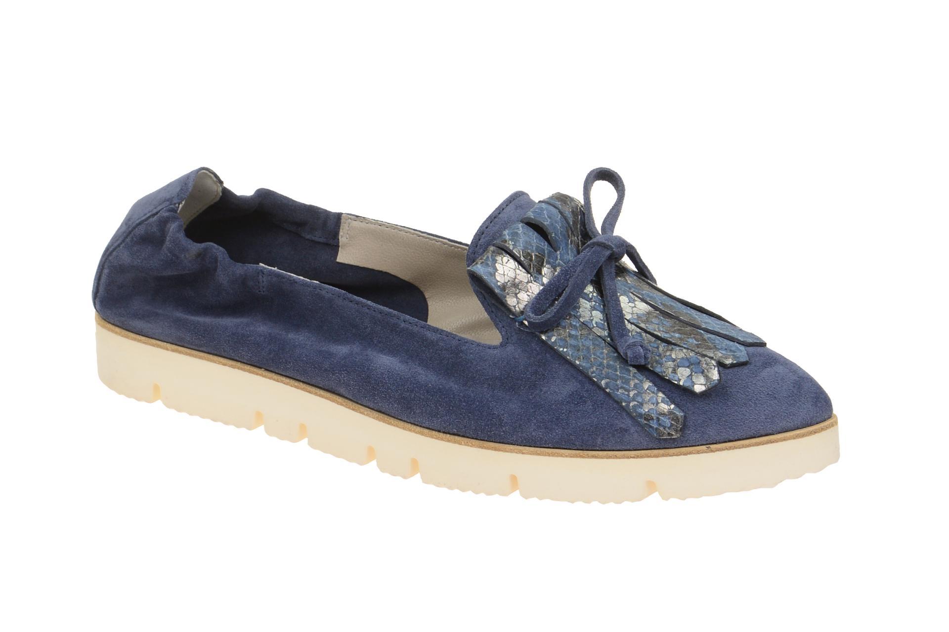 5b4435e1a3a939 K+S Pia X Plateau Ballerina blau jeans - Schuhhaus Strauch Shop