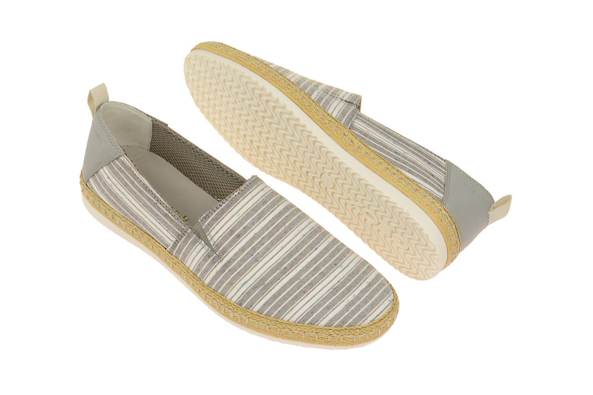 Geox Schuhe COPACABANA grau Herrenschuhe bequeme Slipper U72B7C 0ZB85 C0579