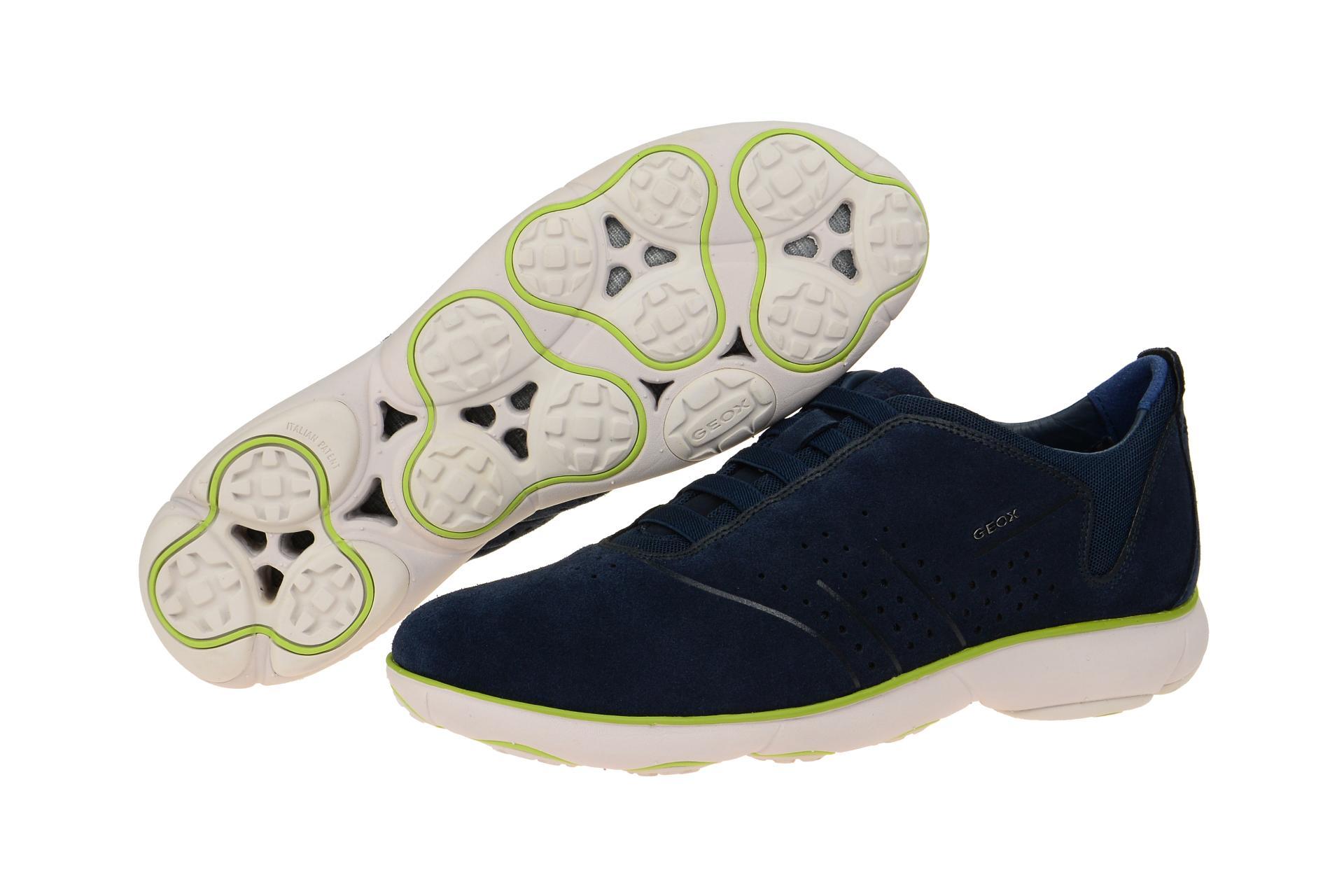 Geox Schuhe NEBULA blau Herrenschuhe bequeme Slipper U72D7A