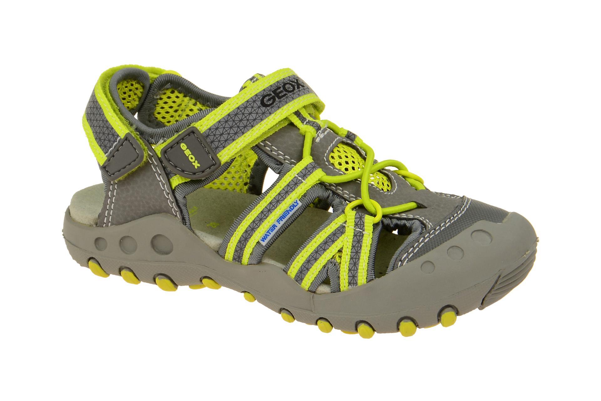 modernes Design Bestbewertete Mode exquisiter Stil Geox Jungen Sandale grau gelb Wassertauglich
