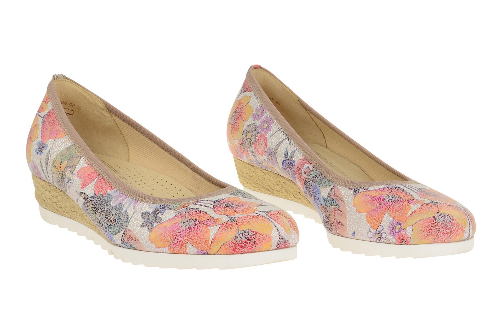 09f1ef86a7 Gabor Schuhe GENUA mehrfarbig Ballerinas Damen Halbschuhe 62.641.40 NEU