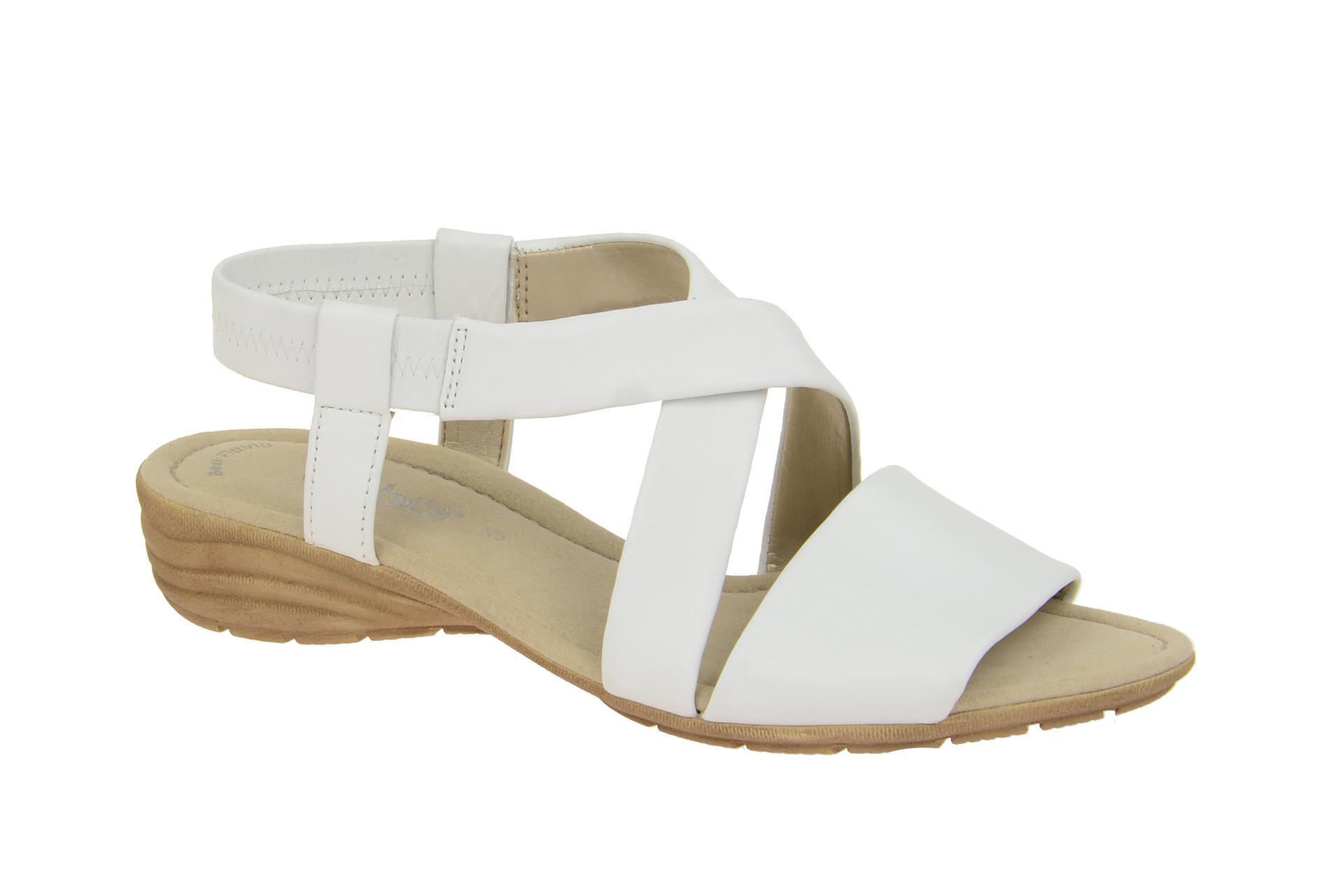 Details zu Gabor Schuhe 24.550 weiß Damen Sandalette Riemchen Sandalen 24.550.21 NEU