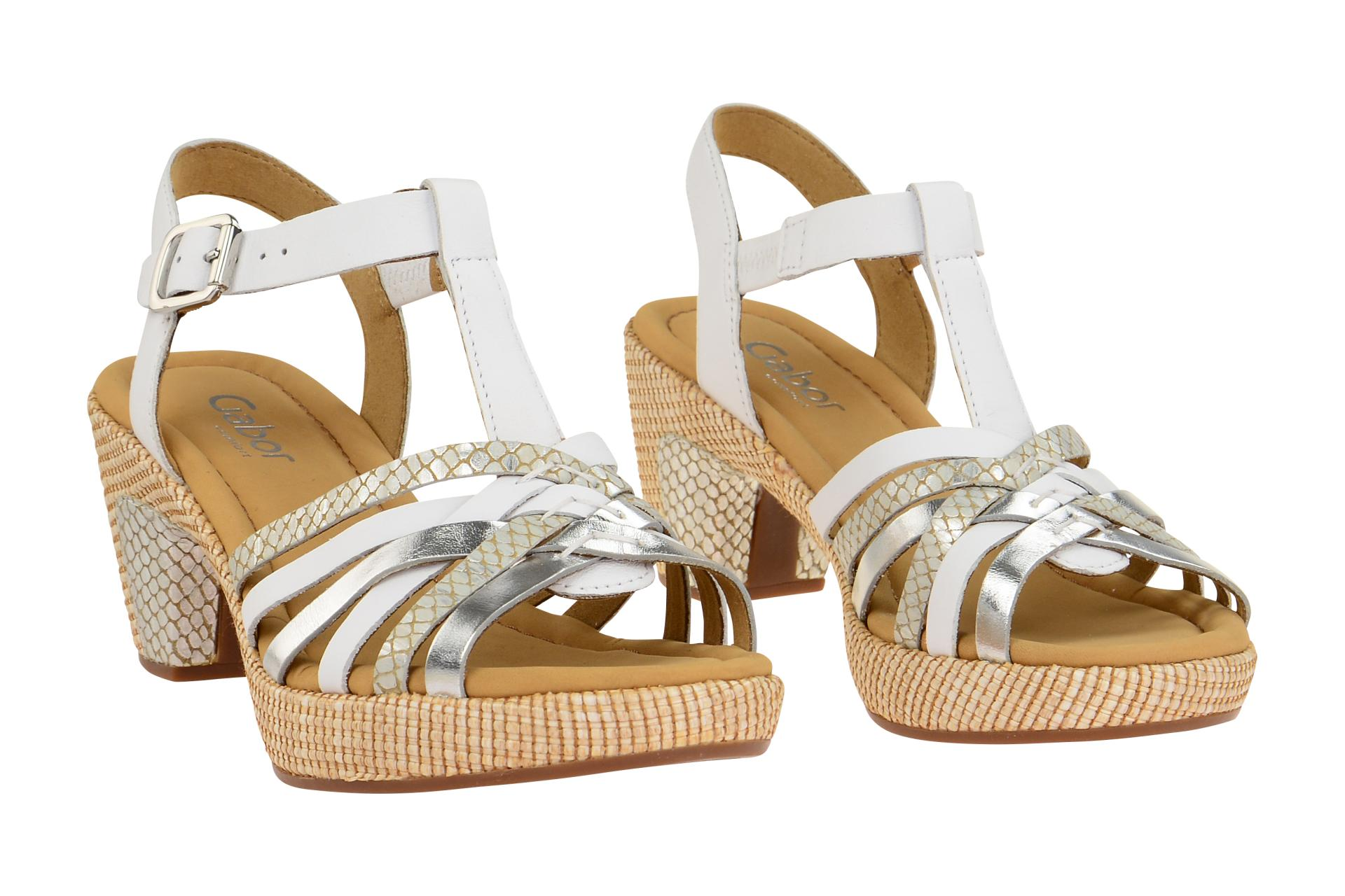 3b08cadc728e Gabor Schuhe St.Tropez weiß Damen Sandale Sandaletten 82.736.51 NEU ...