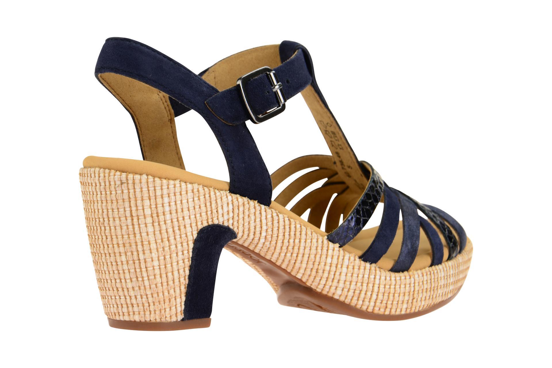 Details zu Gabor Schuhe ST.TROPEZ blau Damen Sandale Sandaletten 22.736.46 NEU
