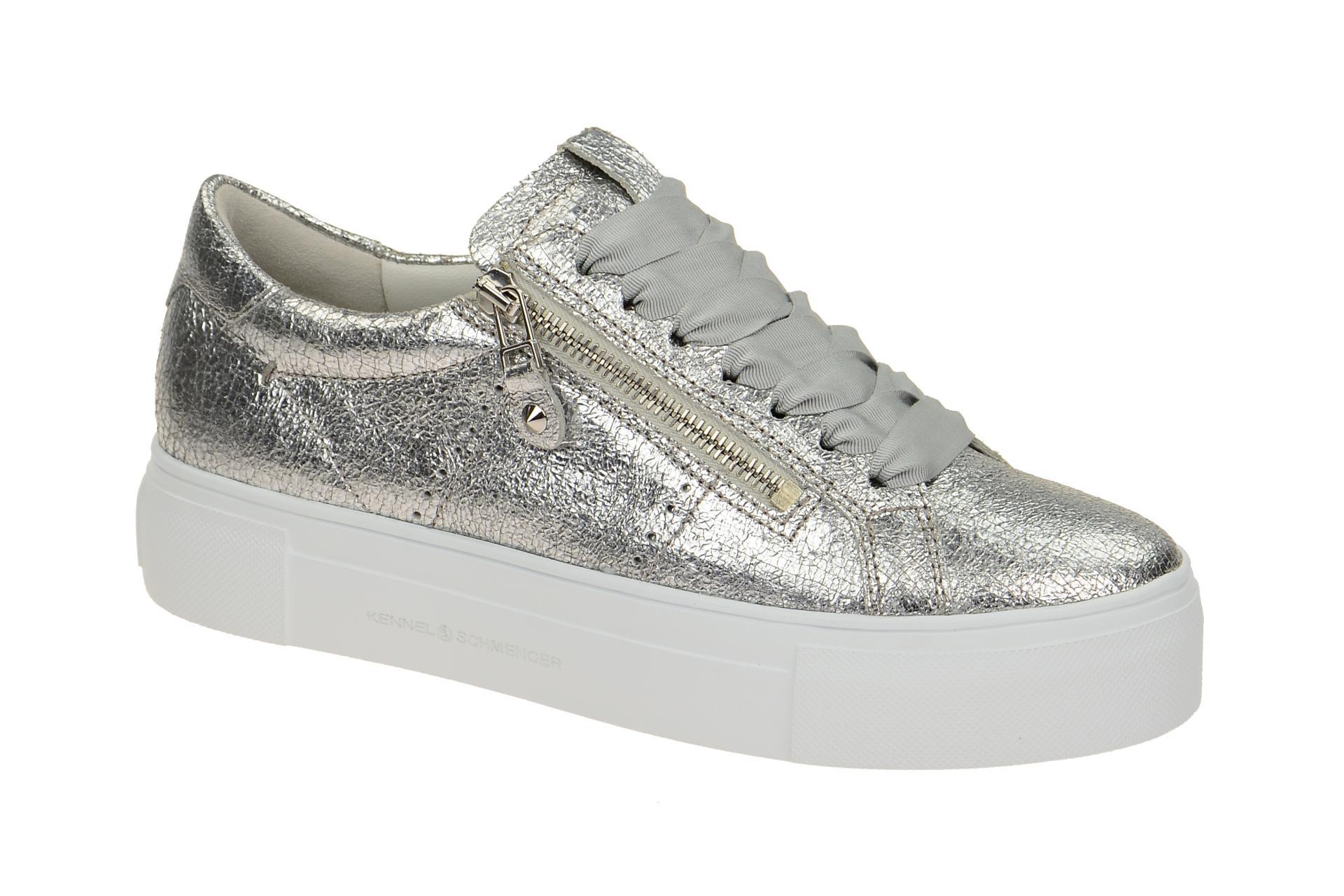 premium selection fdb69 477b0 K+S Big Plateau Sneaker silber metallic
