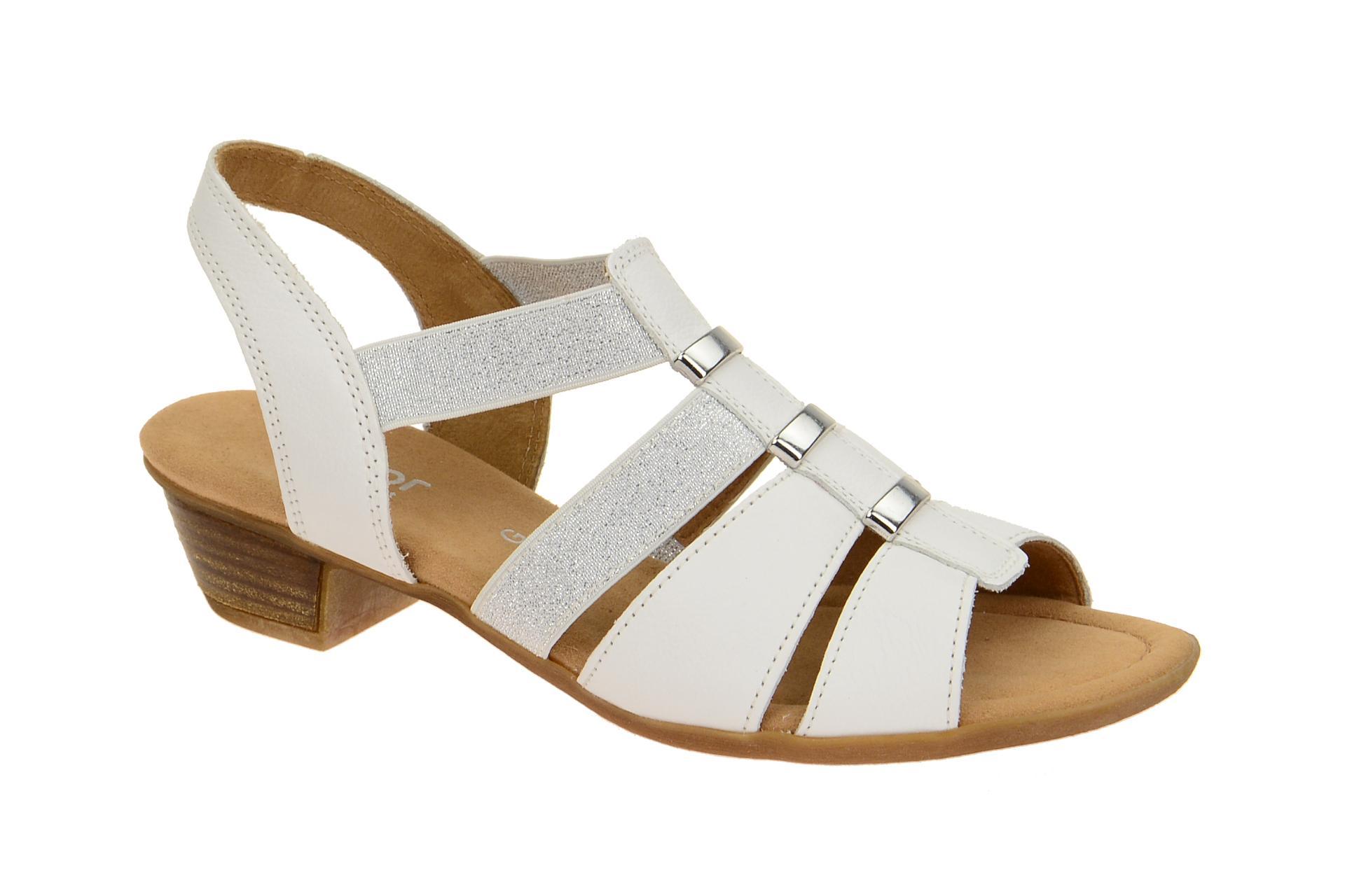 gabor schuhe kreta wei damen sandalette riemchen sandalen neu ebay. Black Bedroom Furniture Sets. Home Design Ideas