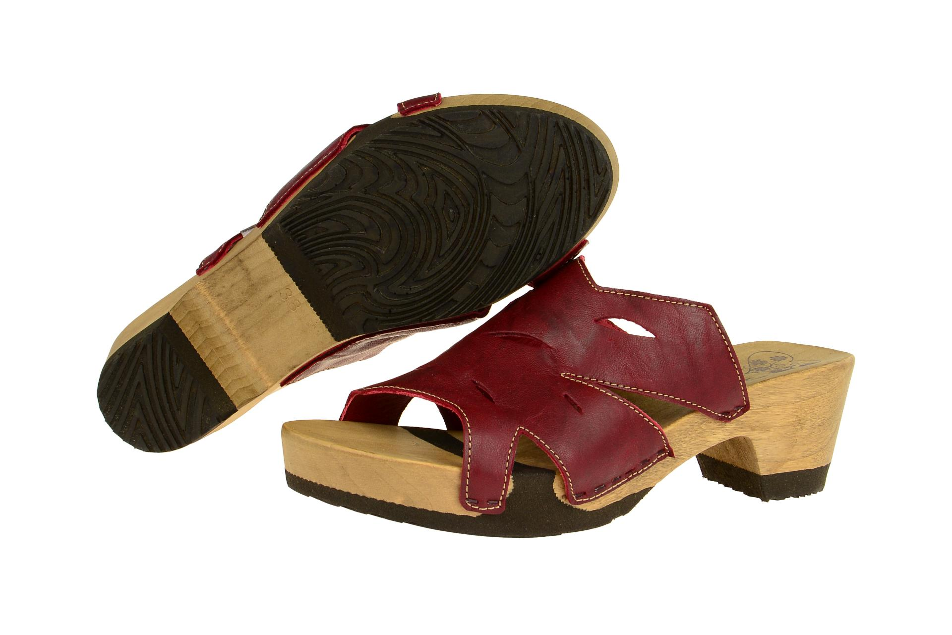 think schuhe zunda rot damen pantoletten pantolette 0 80736 72 neu ebay. Black Bedroom Furniture Sets. Home Design Ideas