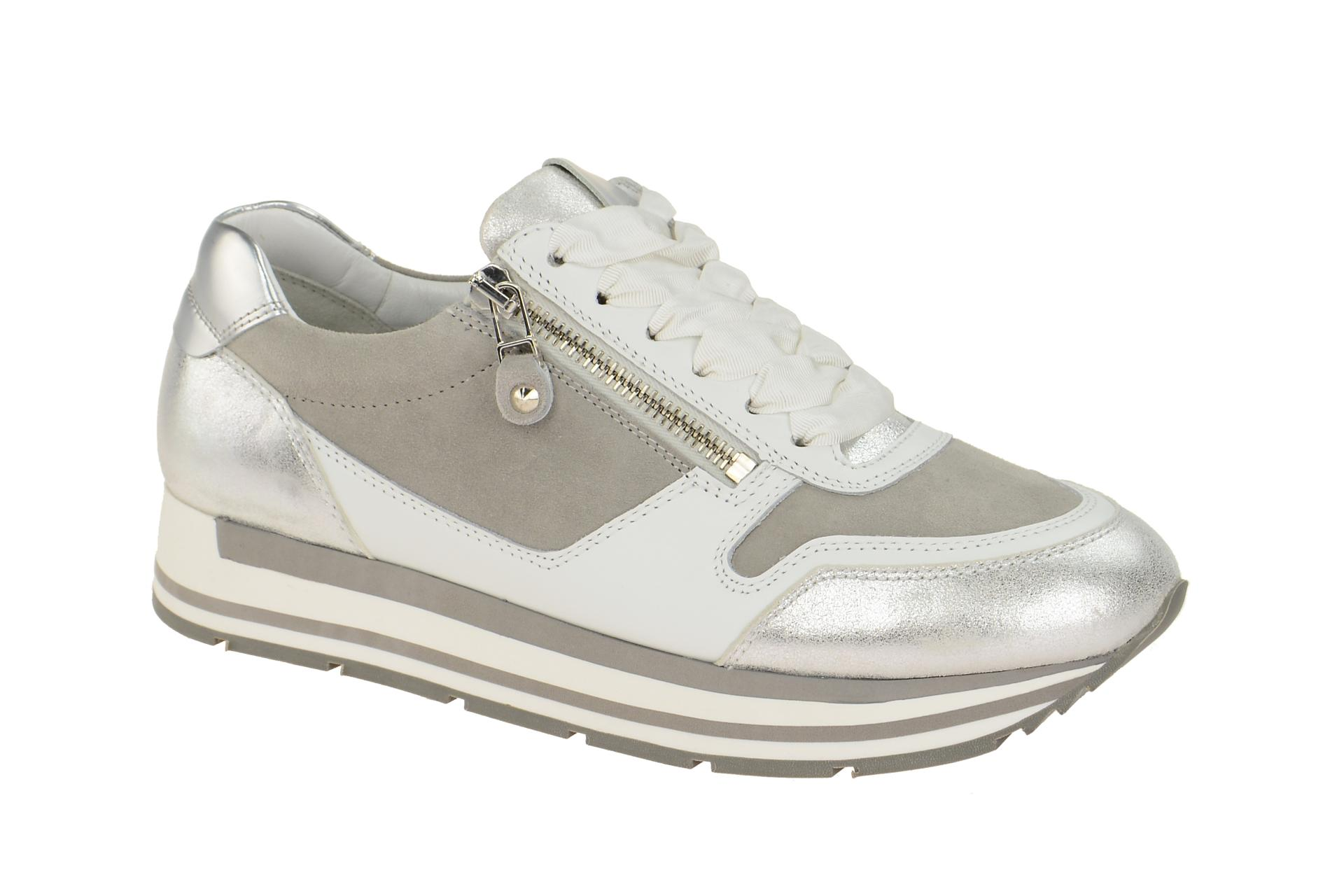 ffdb997656a6b8 K S Sneaker Rock Schuhe weiß grau silber