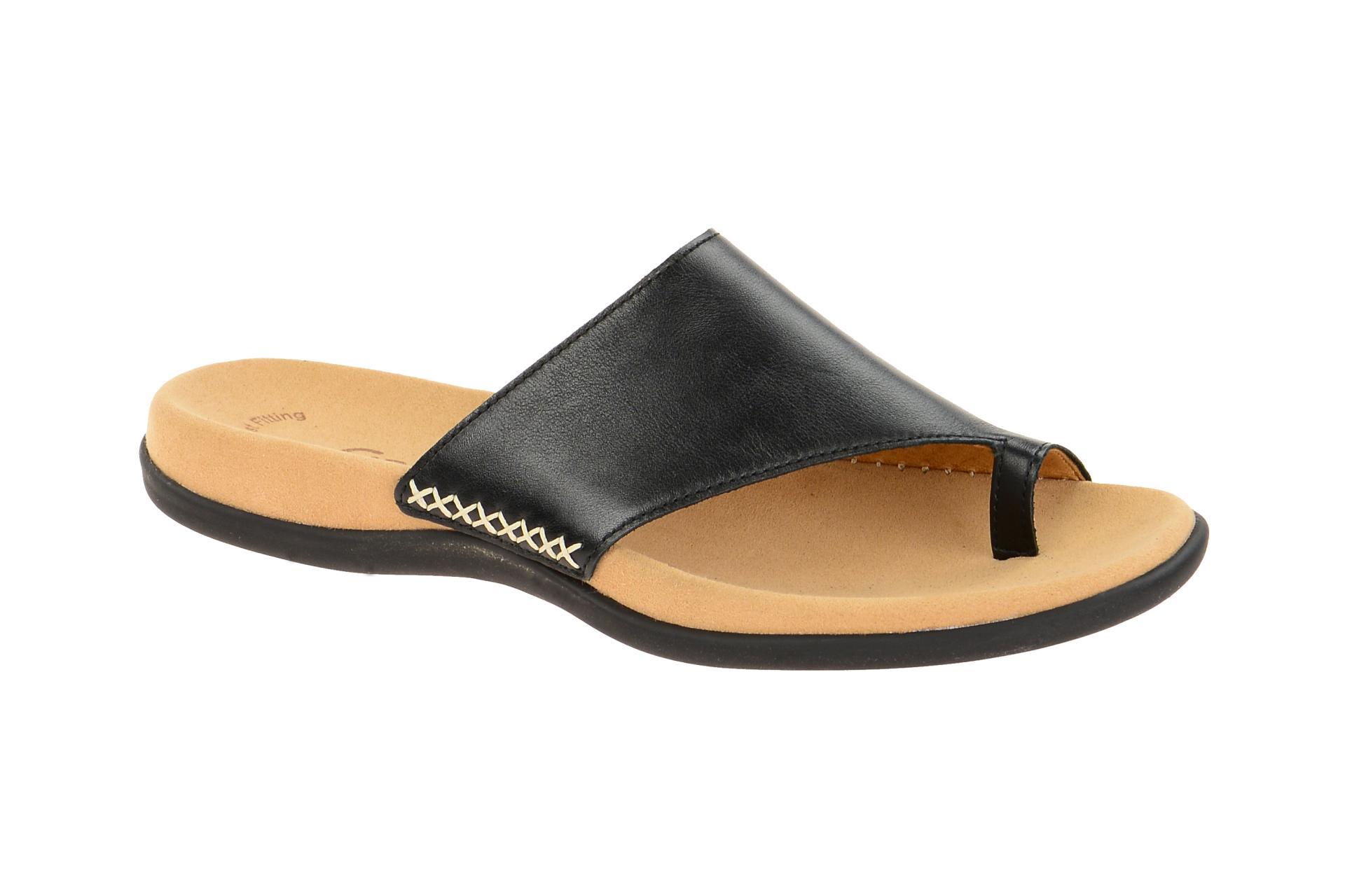 online store 5e9ee 7f6b1 Details zu Gabor Schuhe 03.700 schwarz Damen Pantoletten Zehentrenner  Pantolette 03.700.27