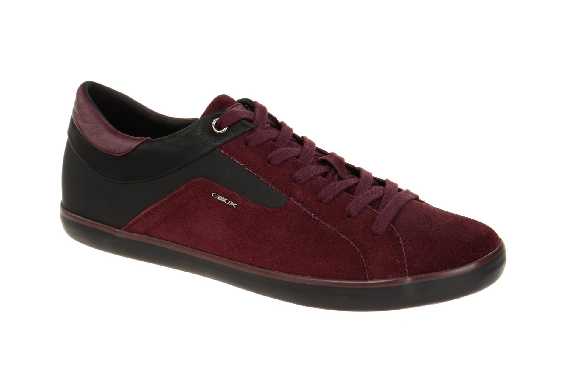 Geox sneaker schuhe box rot burgundy schuhhaus strauch shop for Ordnungssystem fa r schuhe