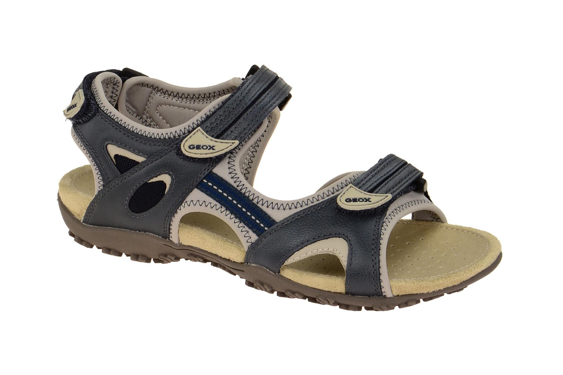 geox schuhe sand strel blau damen sandale sandaletten d1125c 05415 c4254 neu ebay. Black Bedroom Furniture Sets. Home Design Ideas