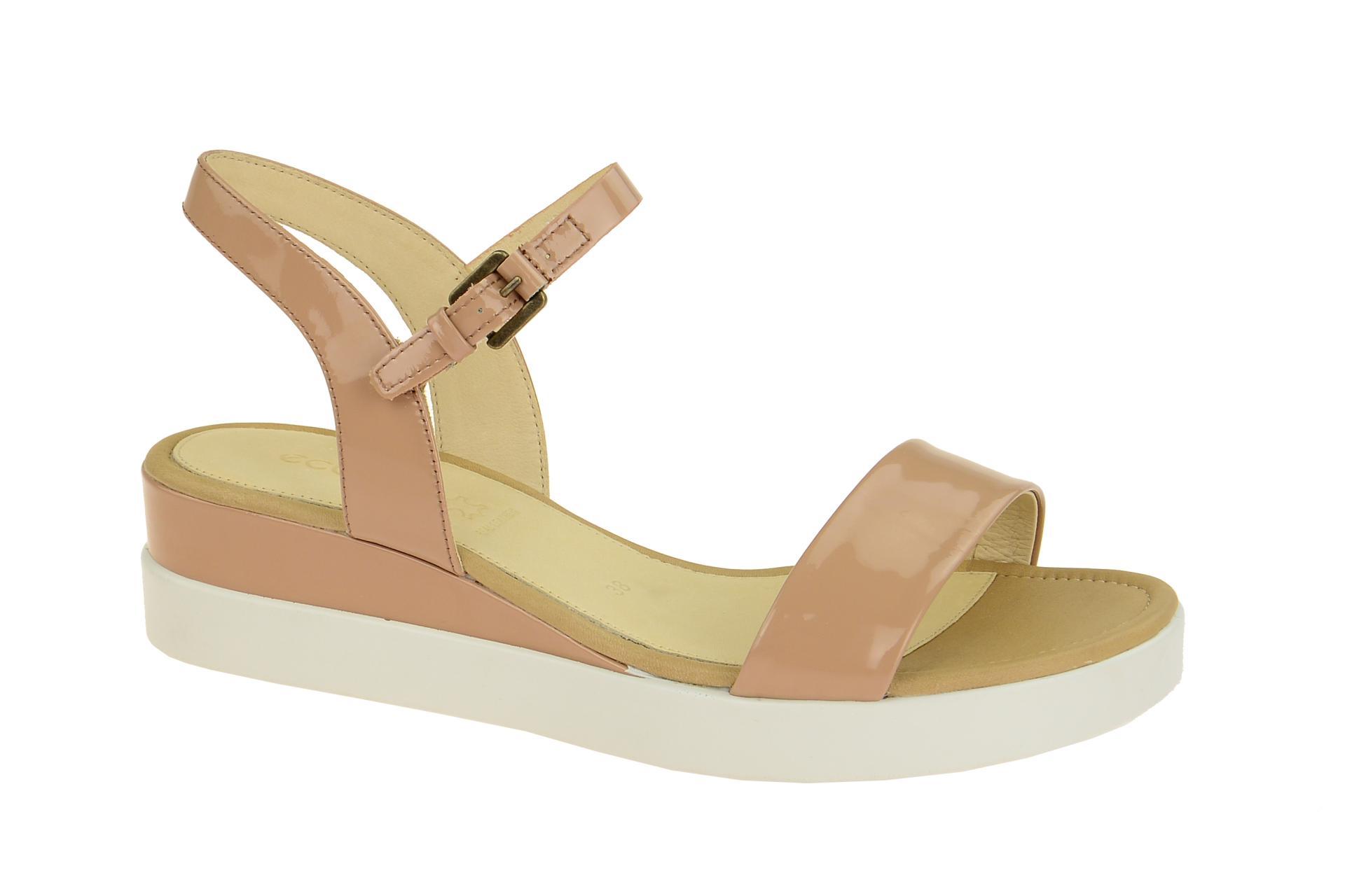 ecco schuhe touch beige damen sandalette riemchen sandalen. Black Bedroom Furniture Sets. Home Design Ideas