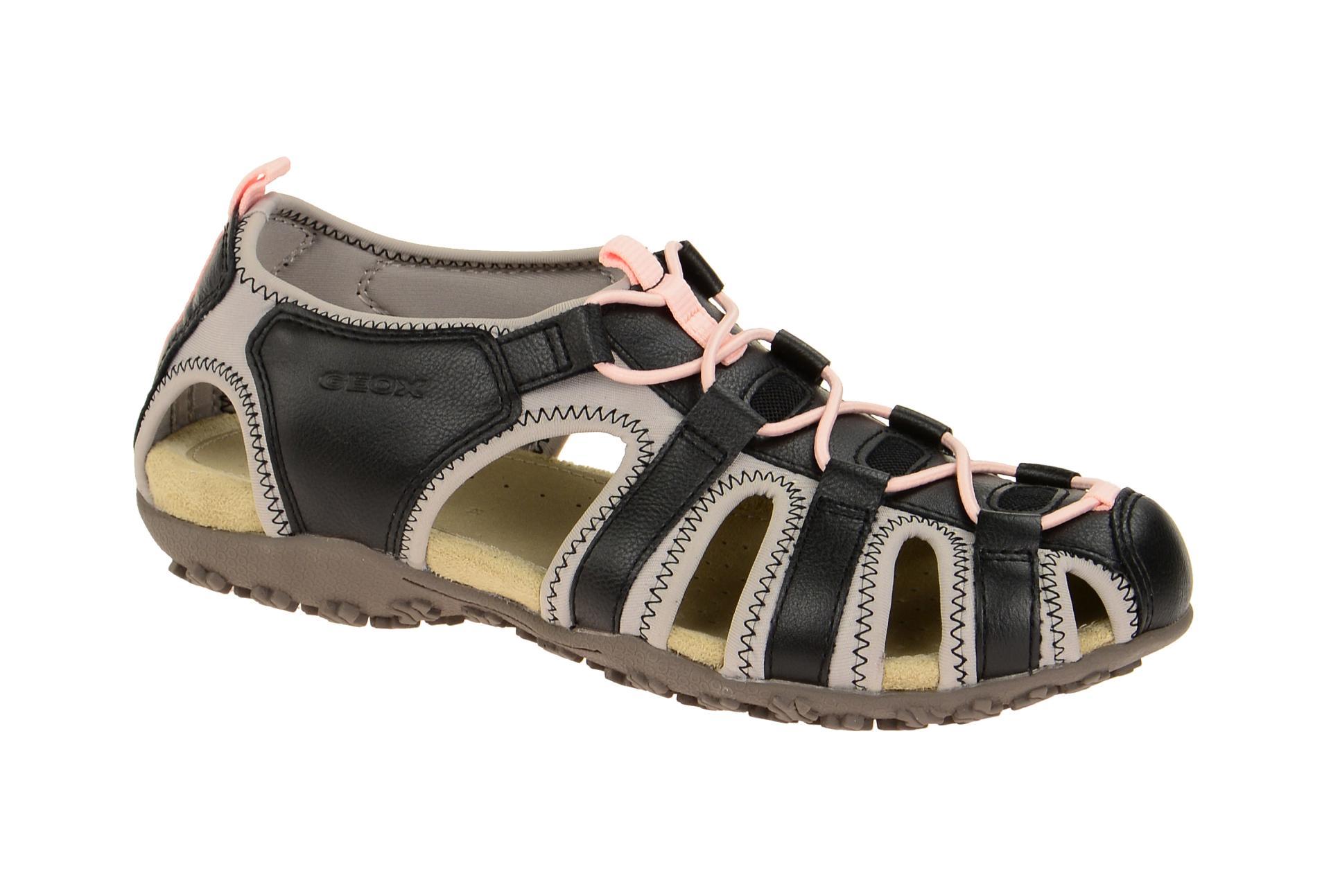C9263 Sandale Details 05415 Damen Zu Neu Schuhe Geox Schwarz Sand strel D7125u JFK1lc