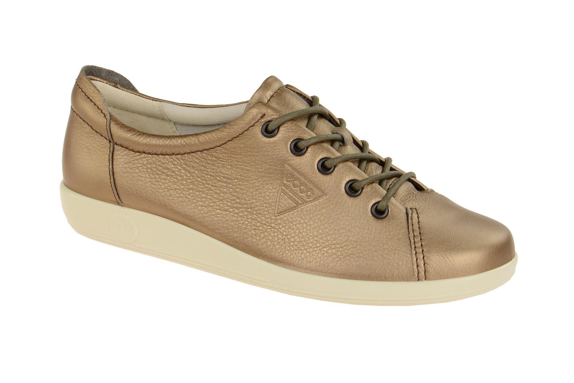 ee3c961af3bbf9 Ecco Soft 2 Schuhe grau braun metallic - Schuhhaus Strauch Shop