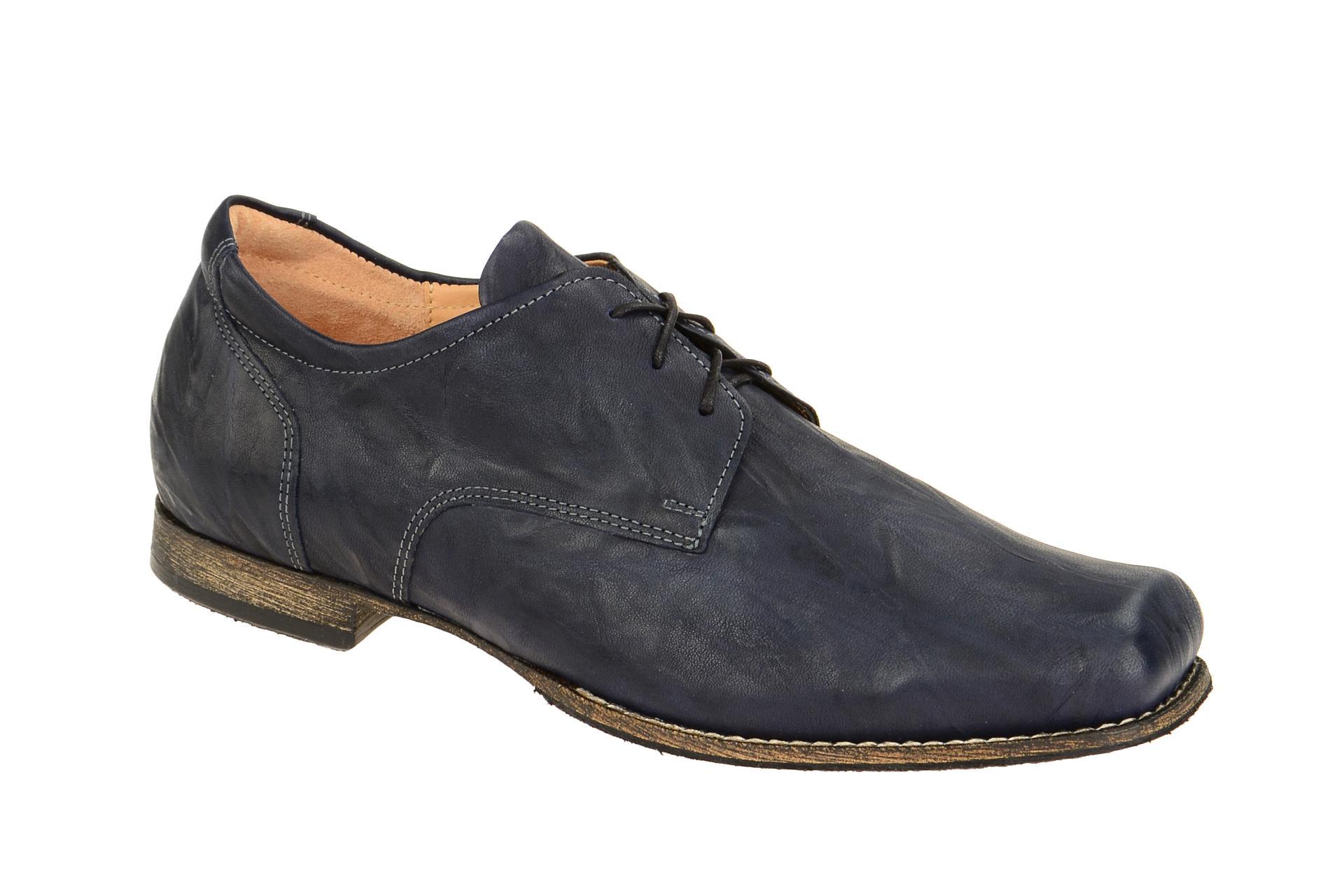 Details zu Think Schuhe GURU blau Herrenschuhe elegante Halbschuhe 1 81690 84 NEU