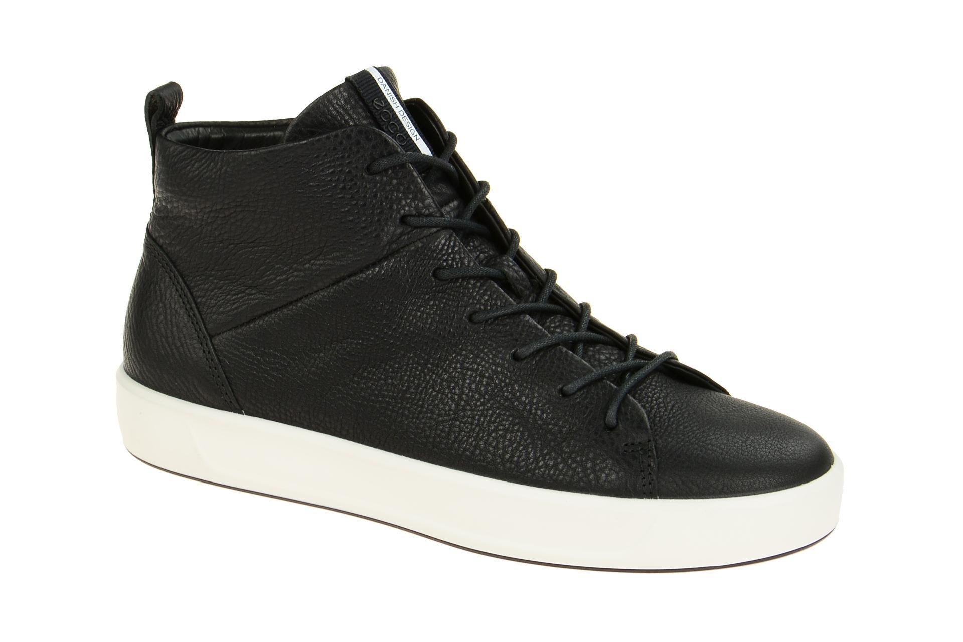 b63db844736e61 Ecco Soft 8 Ladies Stiefel schwarz weiß - Schuhhaus Strauch Shop
