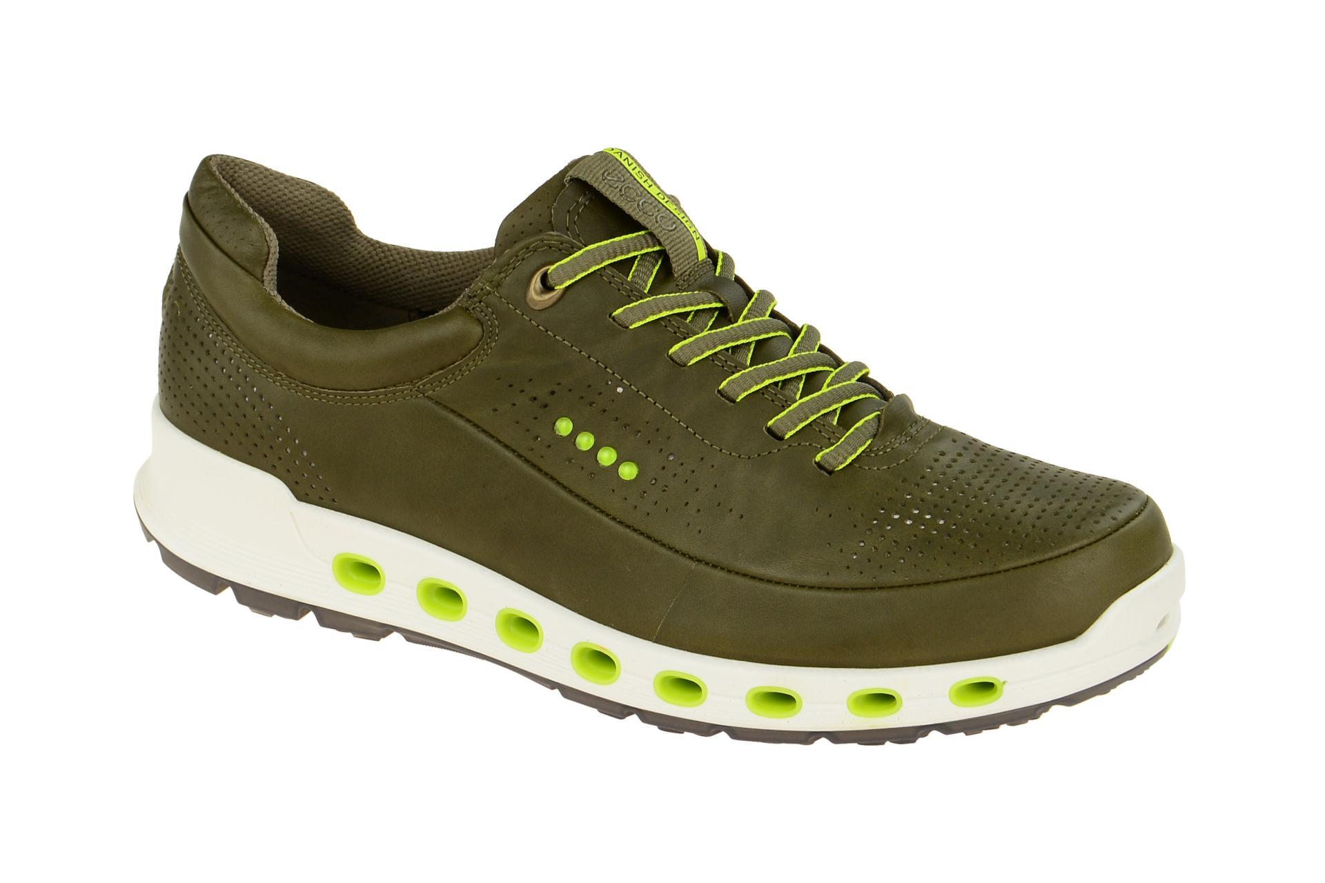 low priced 44703 73c18 Details zu Ecco Schuhe COOL 2.0 grün Herrenschuhe Sneakers 84251401543 NEU