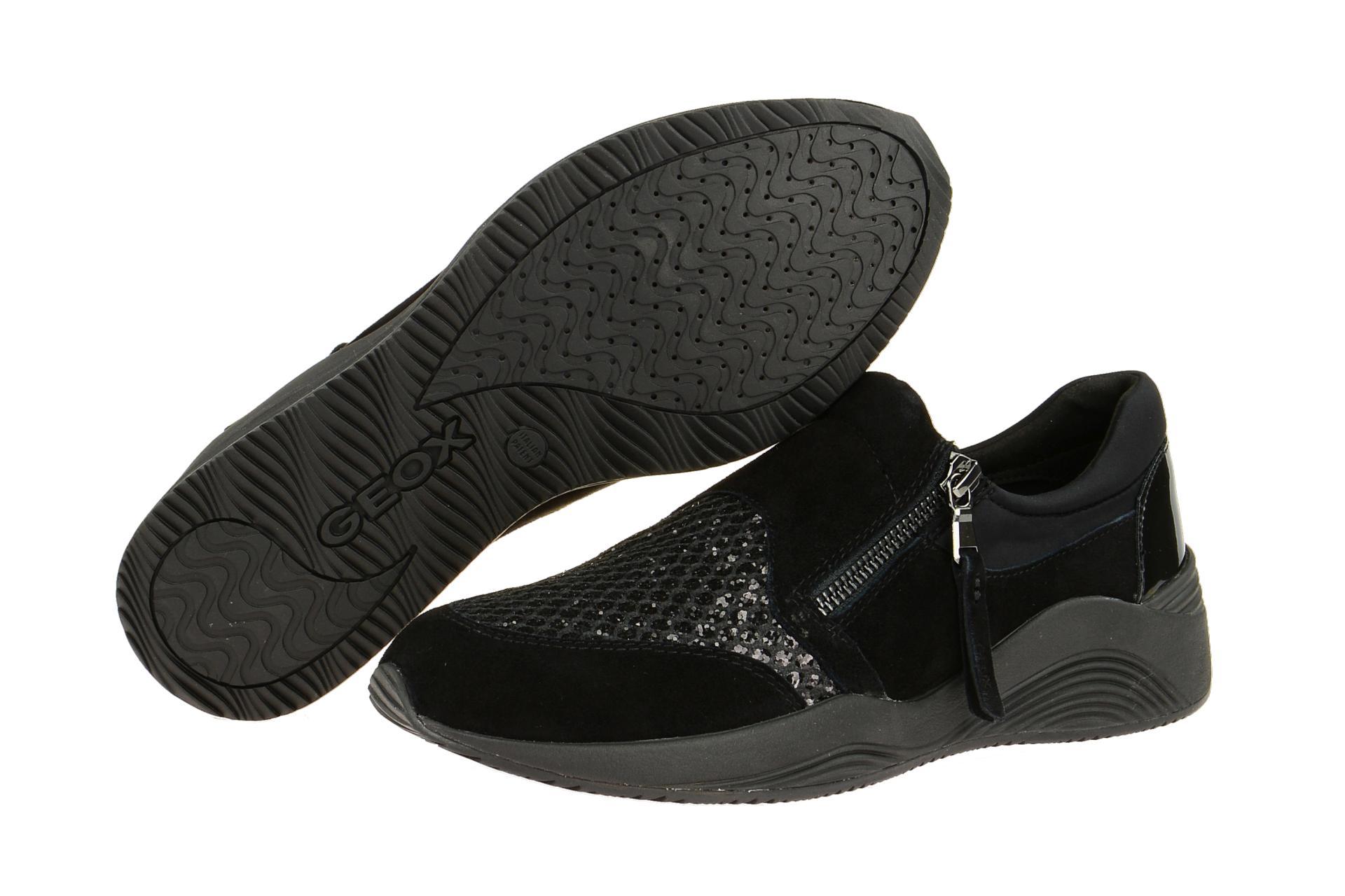 Geox Schuhe OMAYA schwarz Damenschuhe sportliche Slipper D620SA 021EW C9999