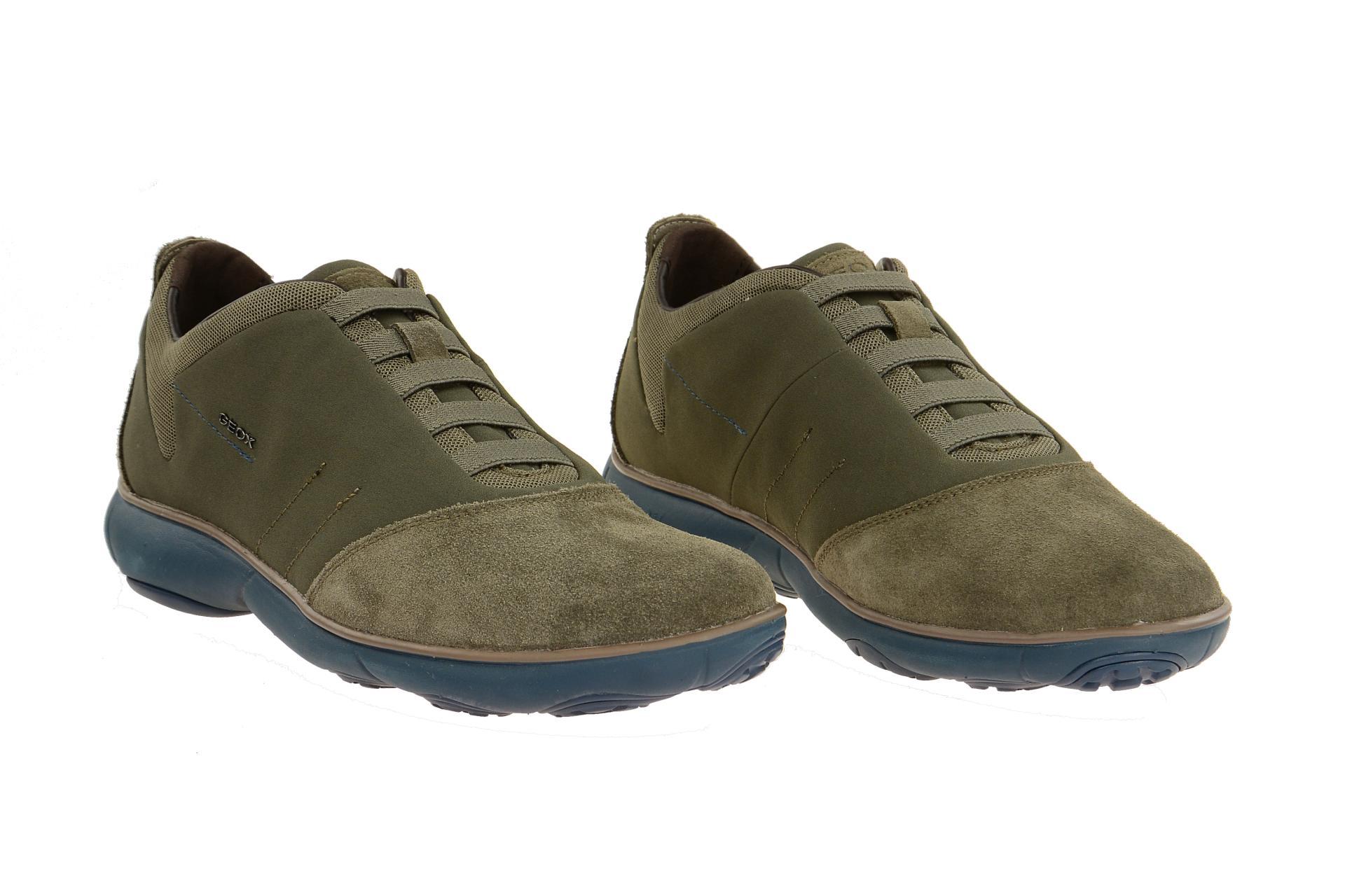 Geox Icona Sneaker braun grau Schnürer Schuhhaus Strauch Shop