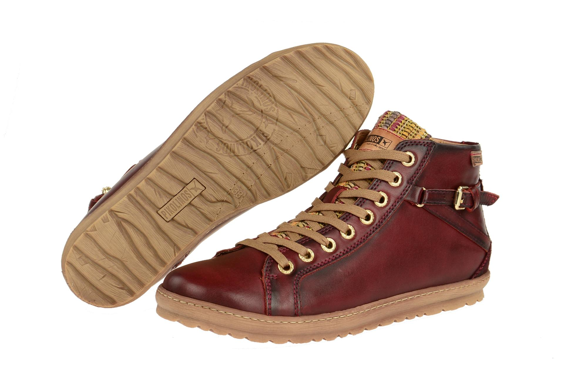 Details zu Pikolinos Schuhe LAGOS rot Damen Stiefeletten 901 7312 arcilla edf NEU